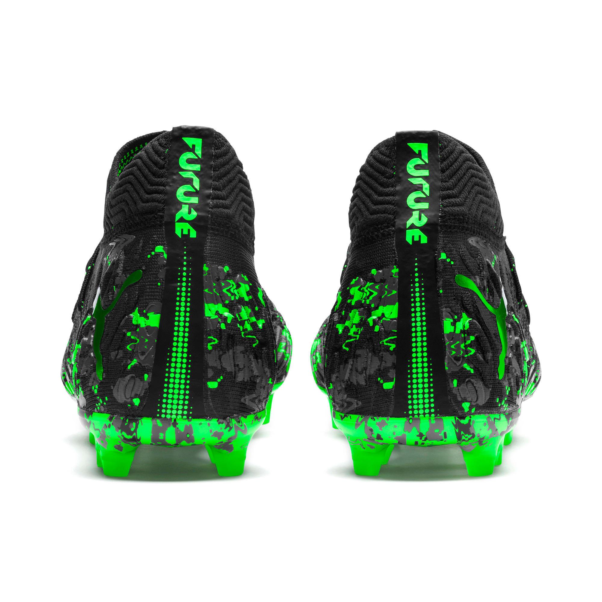 Thumbnail 5 van FUTURE 19.1 NETFIT FG/AG voetbalschoenen voor mannen, Zwart-grijs-Green Gecko, medium