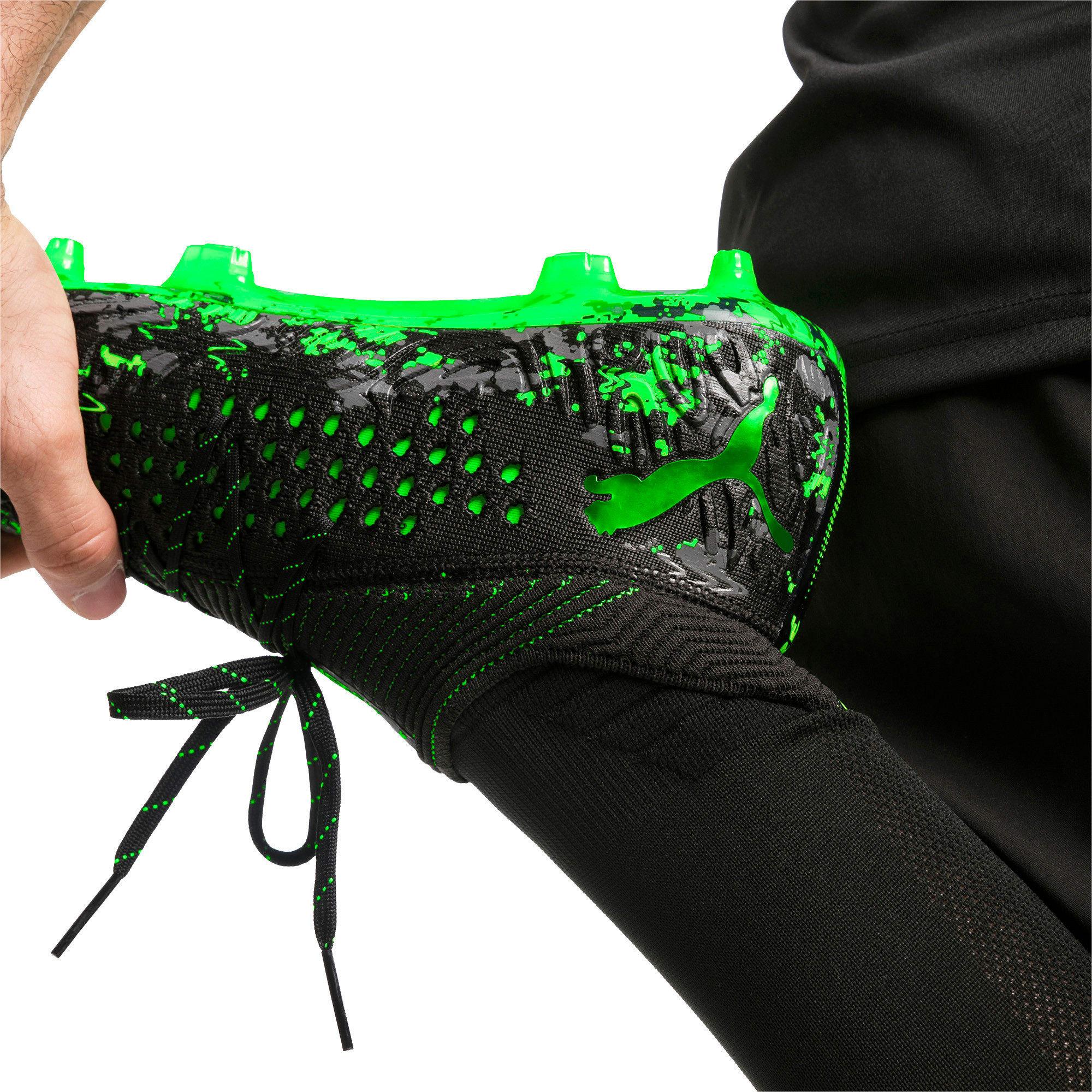 Thumbnail 3 of FUTURE 19.1 NETFIT FG/AG Men's Soccer Cleats, Black-Gray-Green Gecko, medium