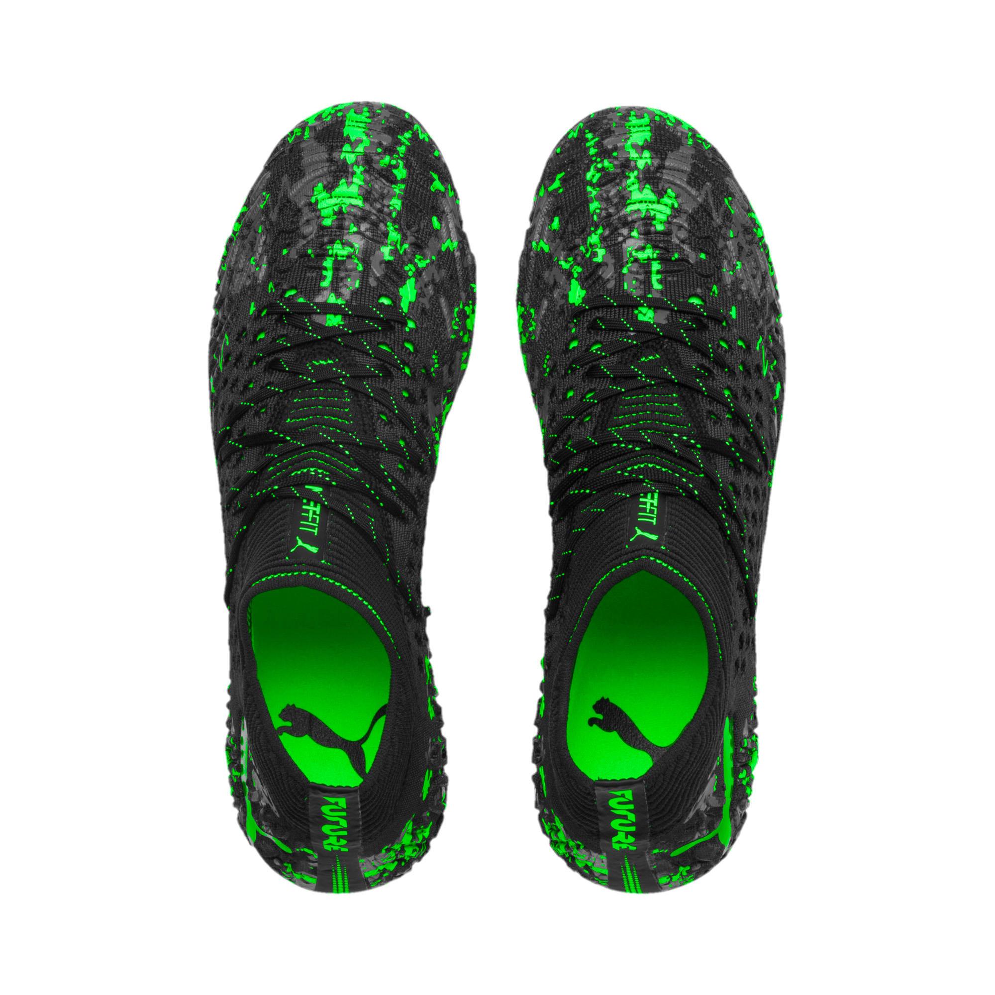 Thumbnail 8 van FUTURE 19.1 NETFIT FG/AG voetbalschoenen voor mannen, Zwart-grijs-Green Gecko, medium