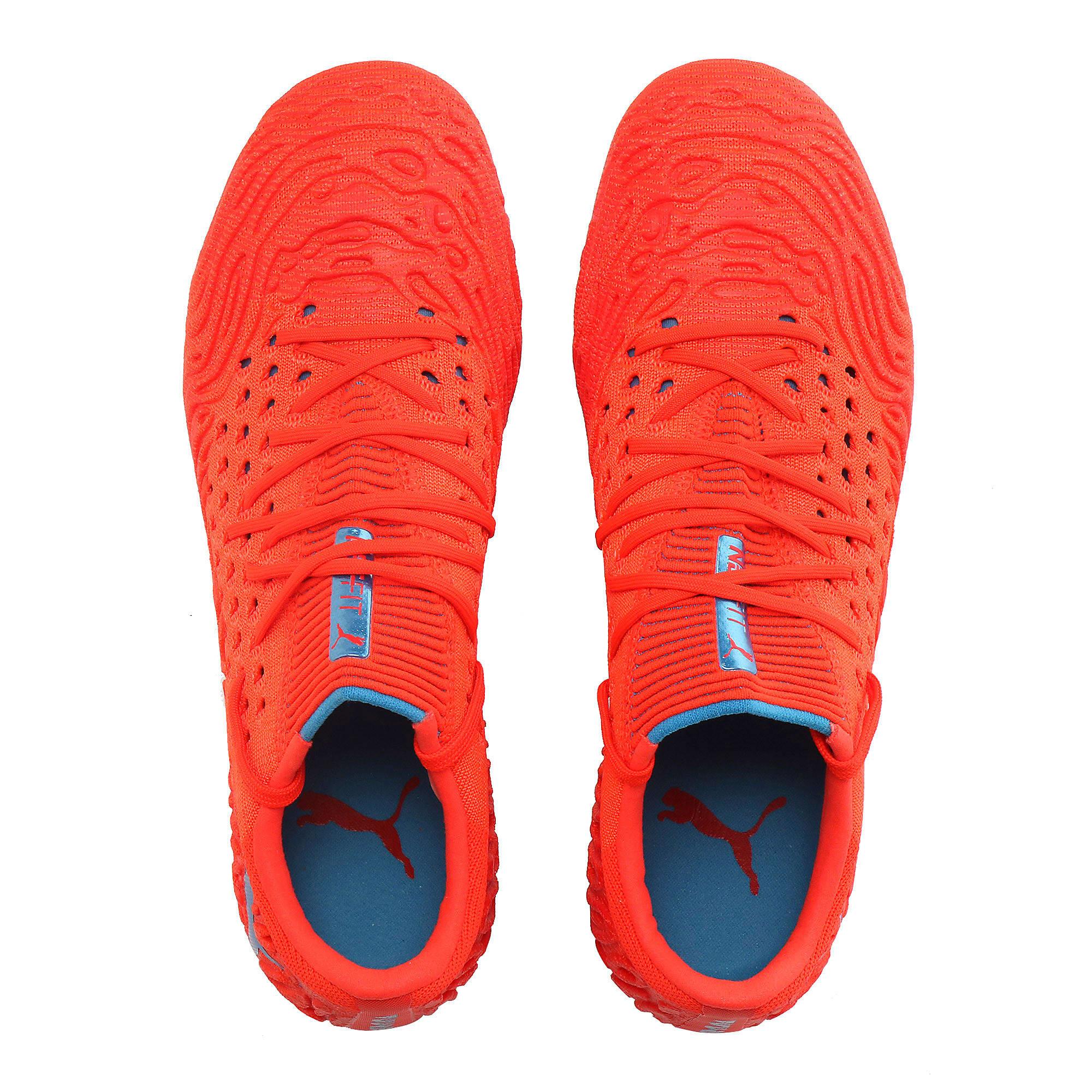 Thumbnail 6 of FUTURE 19.1 NETFIT Lo FG/AG Men's Soccer Cleats, Red Blast-Bleu Azur, medium
