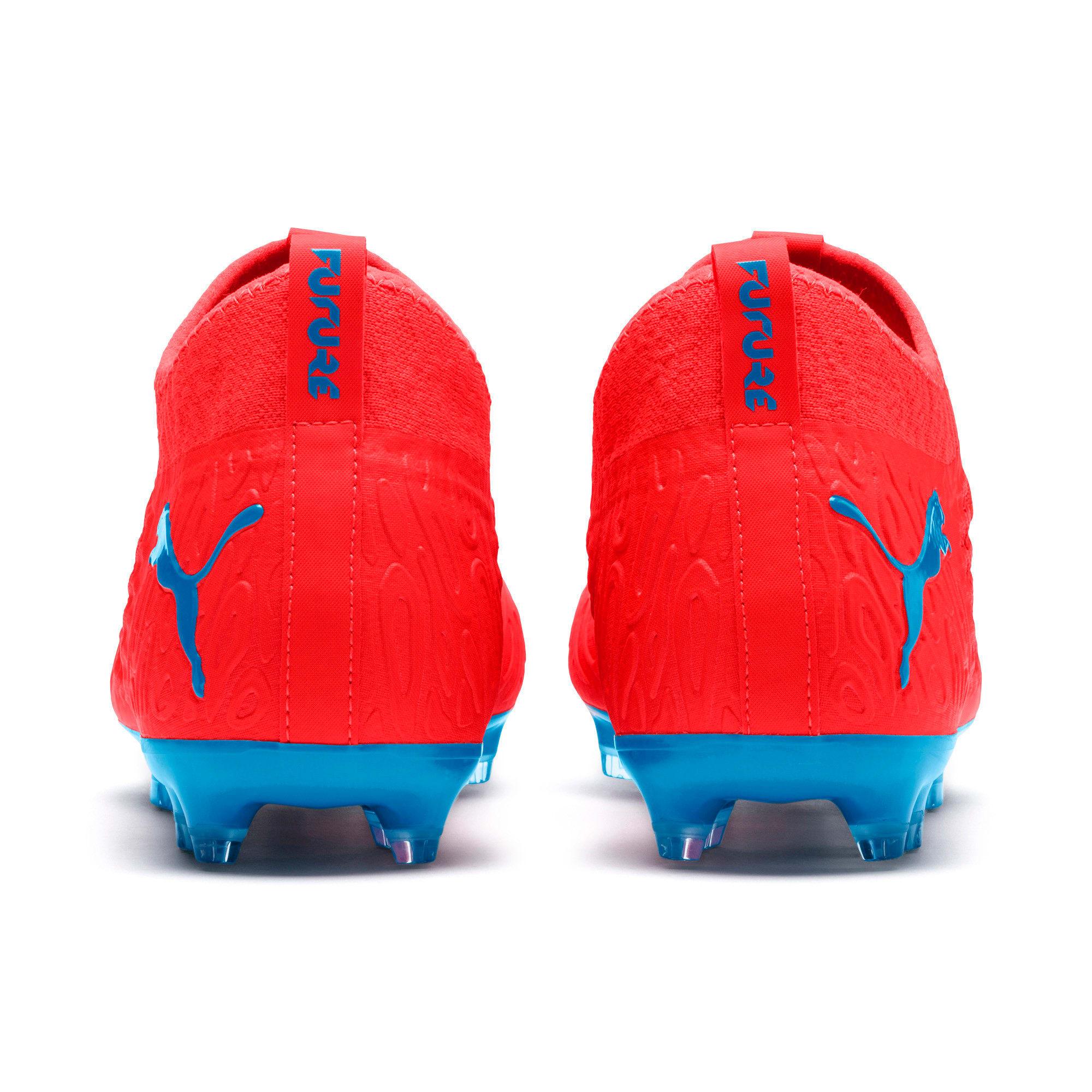 Thumbnail 3 of FUTURE 19.3 NETFIT FG/AG Men's Soccer Cleats, Red Blast-Bleu Azur, medium