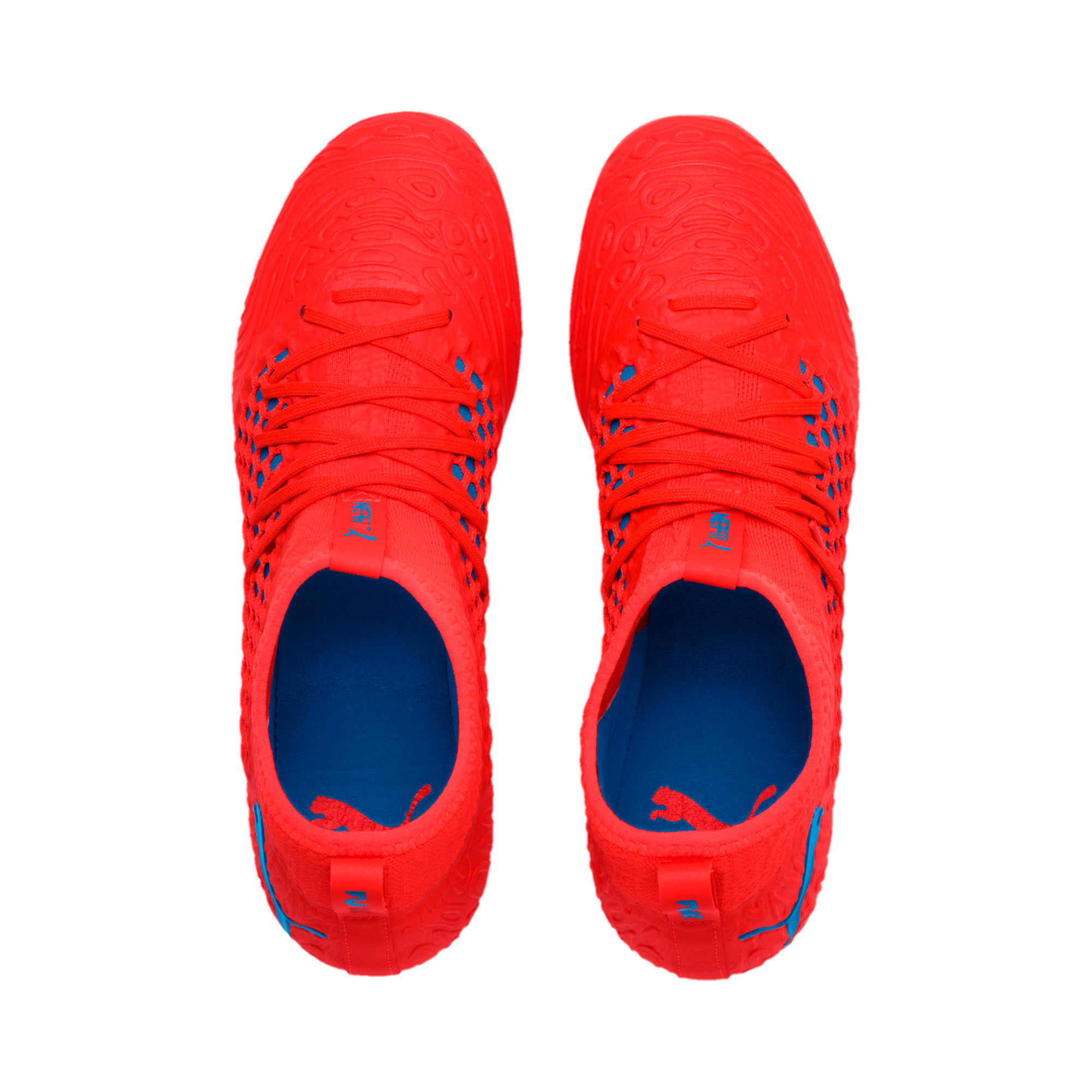 Thumbnail 6 of FUTURE 19.3 NETFIT FG/AG Men's Soccer Cleats, Red Blast-Bleu Azur, medium