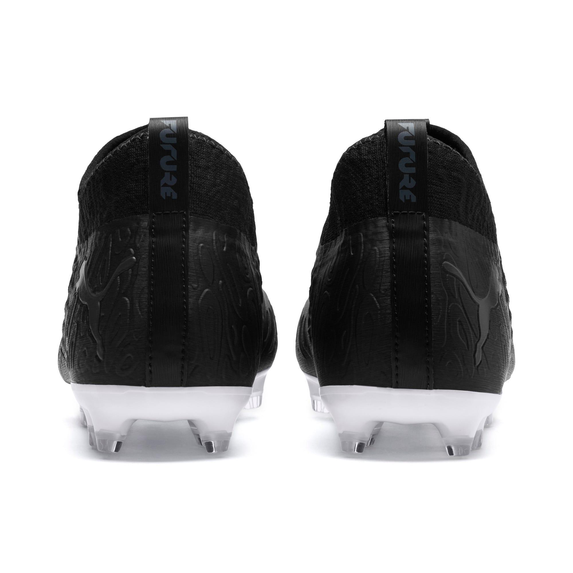 Thumbnail 3 of FUTURE 19.3 NETFIT FG/AG Men's Soccer Cleats, Puma Black-Puma Black-White, medium