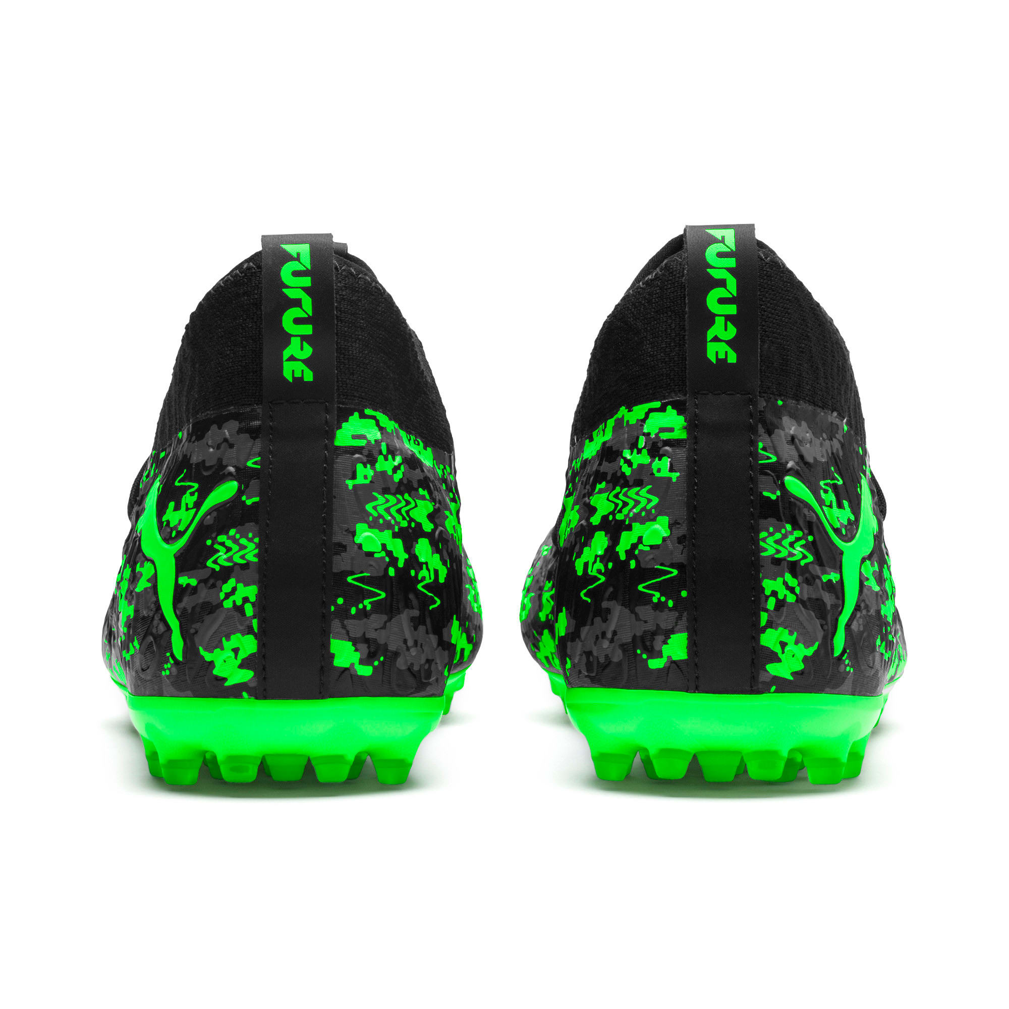 FUTURE 19.3 NETFIT MG Men's Football Boots, Black-Gray-Green Gecko, large