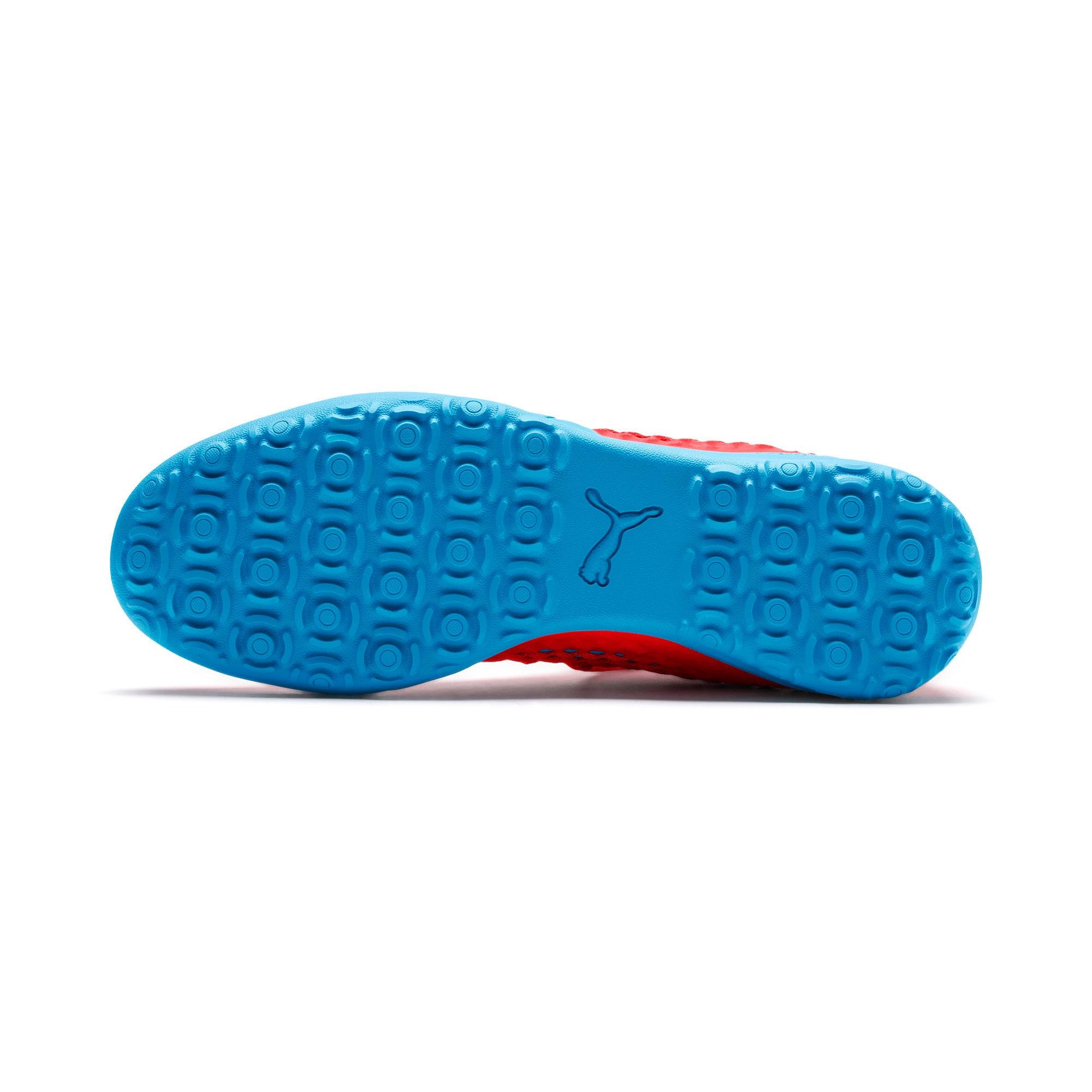 Thumbnail 5 of FUTURE 19.3 NETFIT TT Men's Soccer Shoes, Red Blast-Bleu Azur, medium