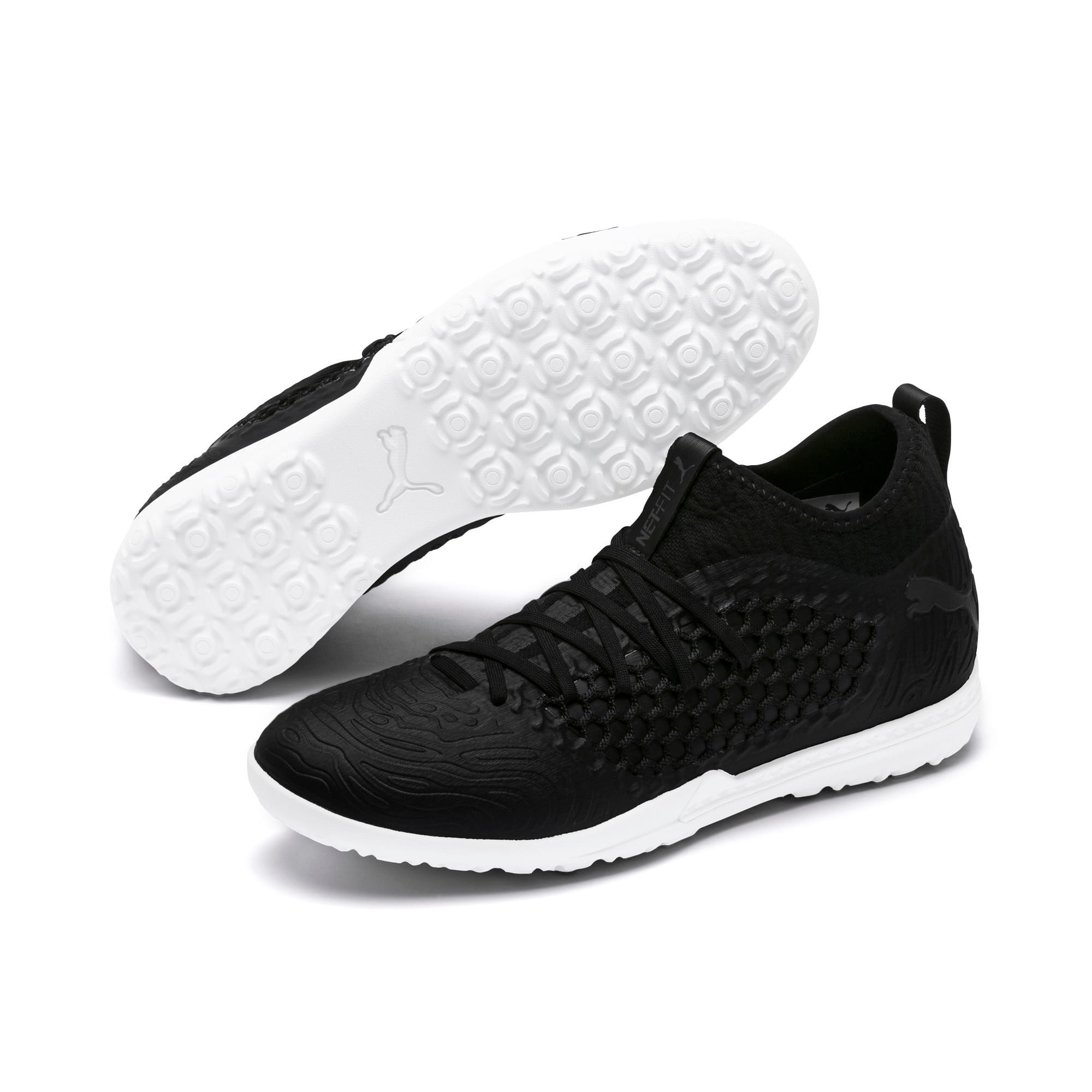 Thumbnail 2 of FUTURE 19.3 NETFIT TT Men's Soccer Shoes, Puma Black-Puma Black-White, medium