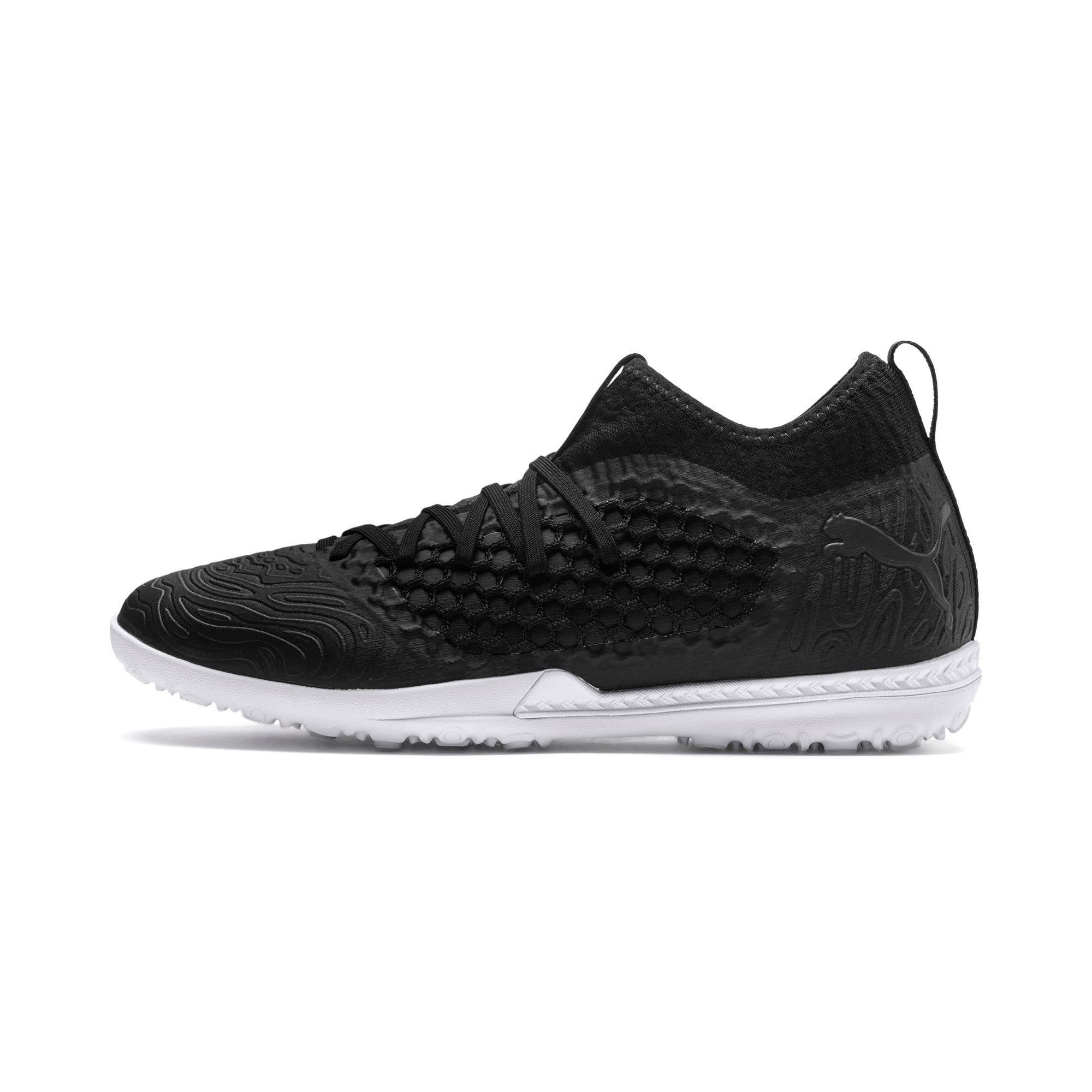 Thumbnail 1 of FUTURE 19.3 NETFIT TT Men's Soccer Shoes, Puma Black-Puma Black-White, medium