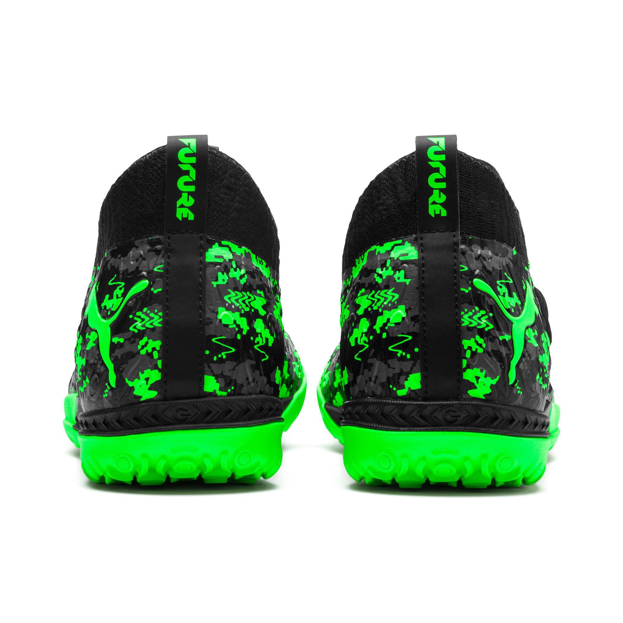 Thumbnail 3 of FUTURE 19.3 NETFIT TT Men's Soccer Shoes, Black-Gray-Green Gecko, medium