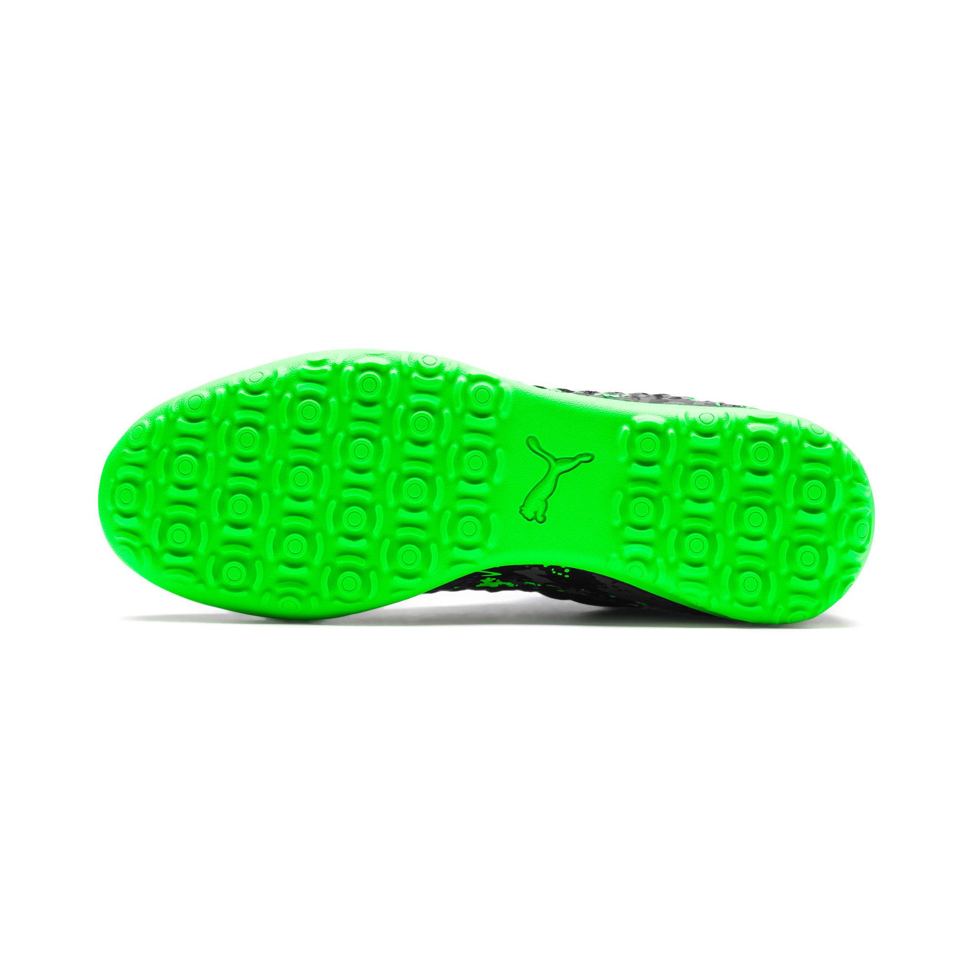 Thumbnail 4 of FUTURE 19.3 NETFIT TT Men's Soccer Shoes, Black-Gray-Green Gecko, medium