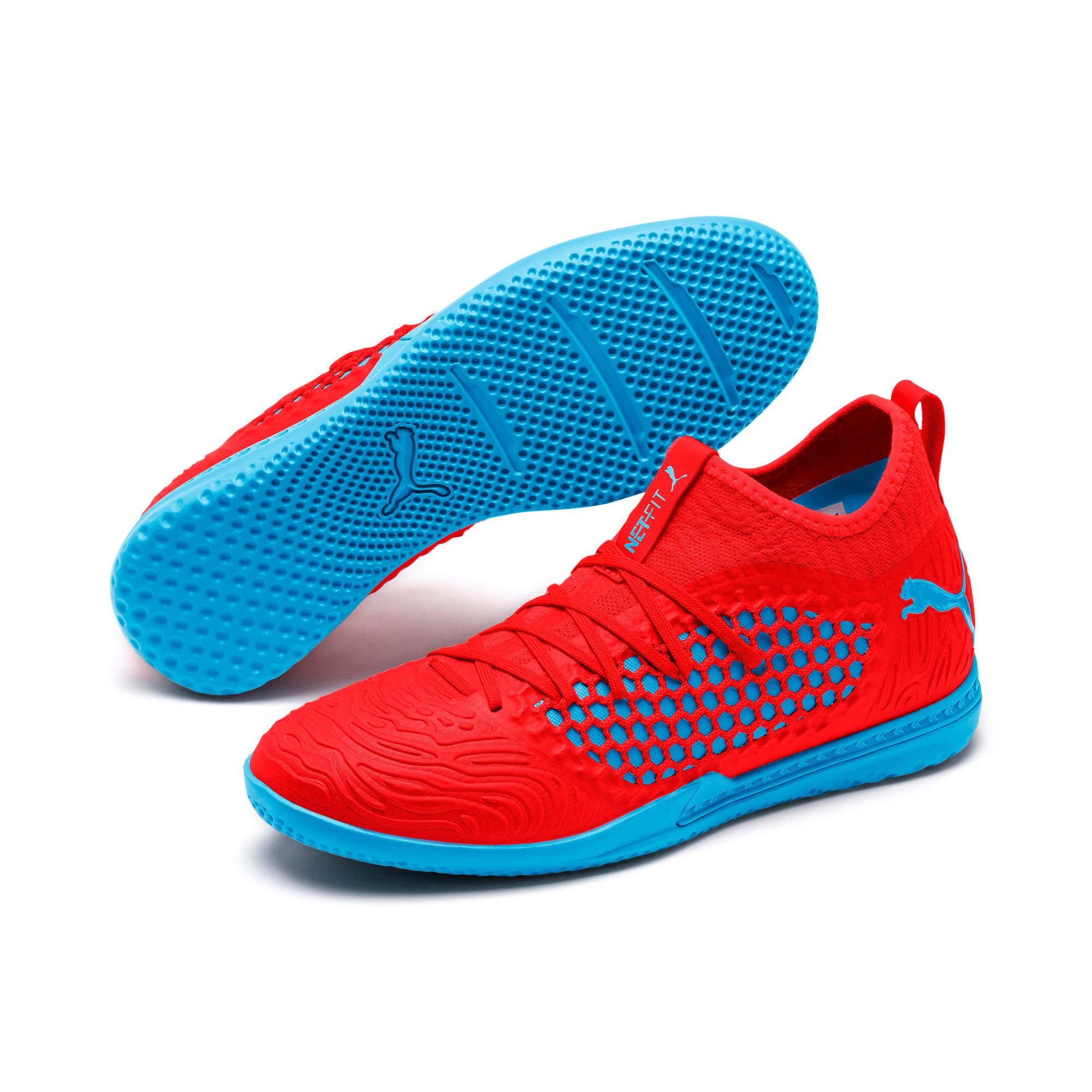 Thumbnail 2 of FUTURE 19.3 NETFIT IT Men's Soccer Shoes, Red Blast-Bleu Azur, medium