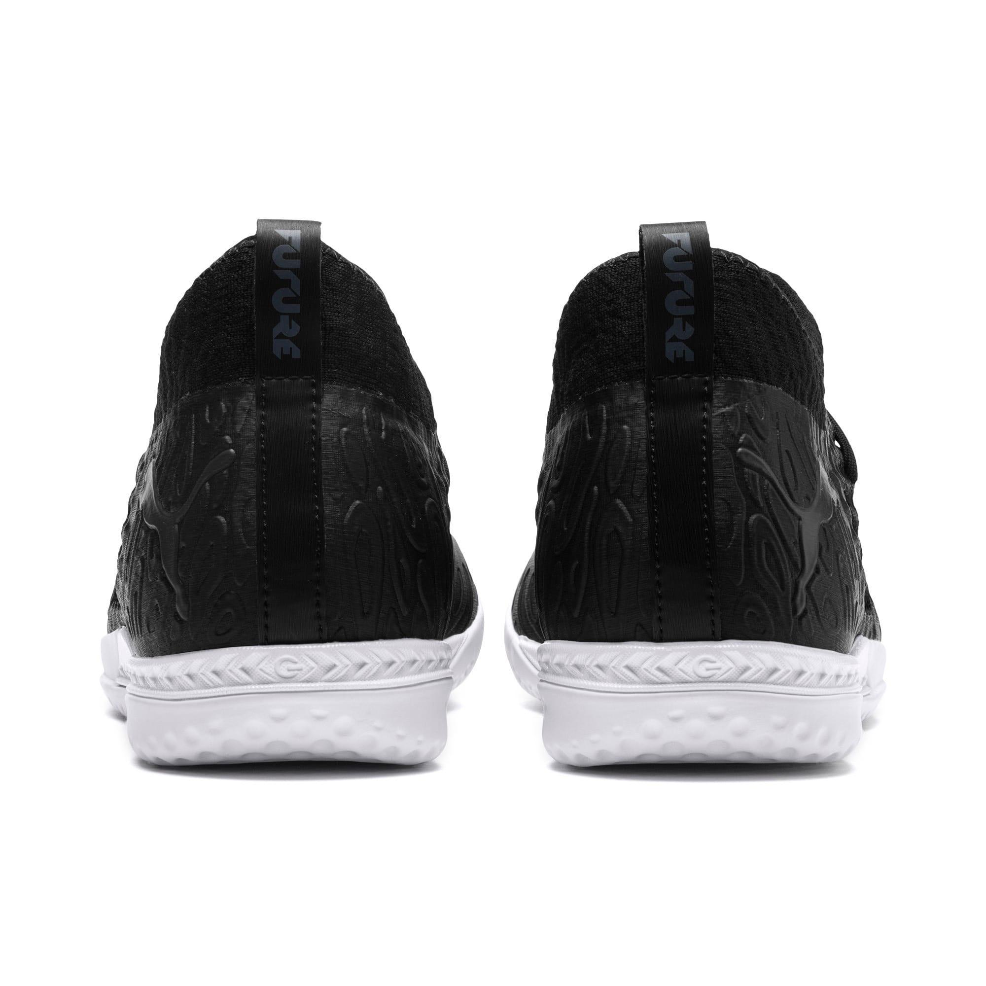 Thumbnail 4 of FUTURE 19.3 NETFIT IT Men's Soccer Shoes, Puma Black-Puma Black-White, medium