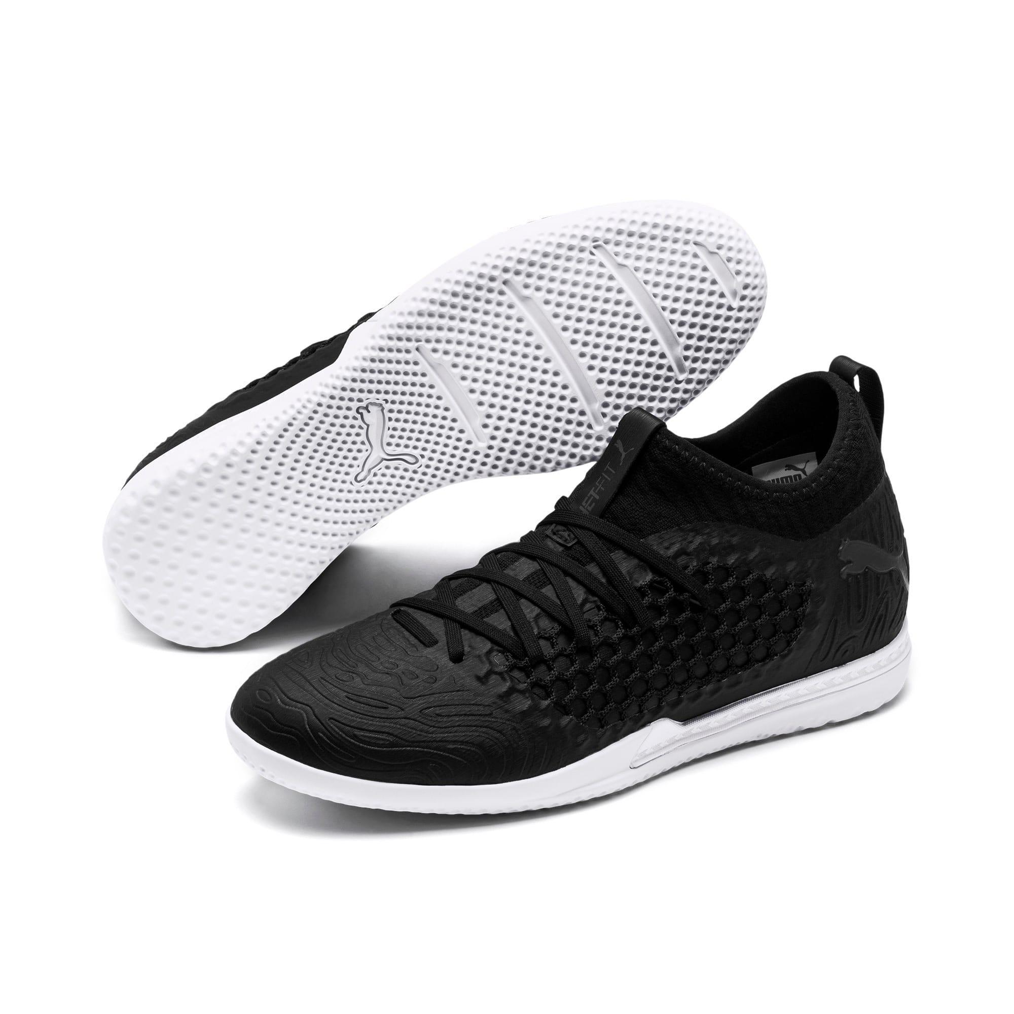Thumbnail 2 of FUTURE 19.3 NETFIT IT Men's Soccer Shoes, Puma Black-Puma Black-White, medium