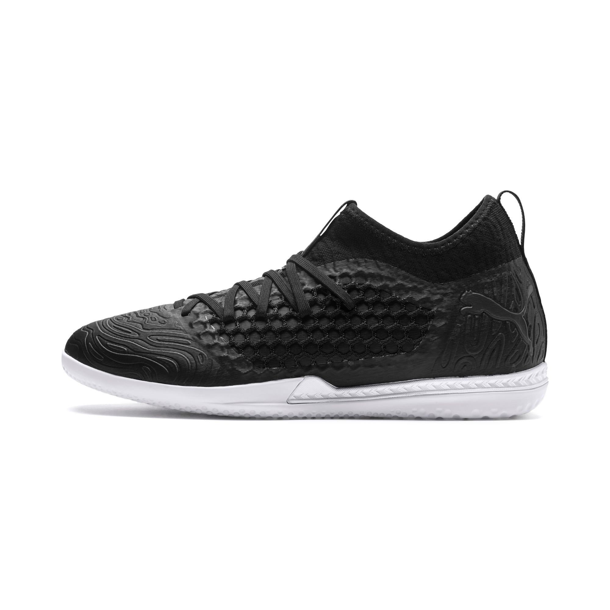 Thumbnail 1 of FUTURE 19.3 NETFIT IT Men's Soccer Shoes, Puma Black-Puma Black-White, medium