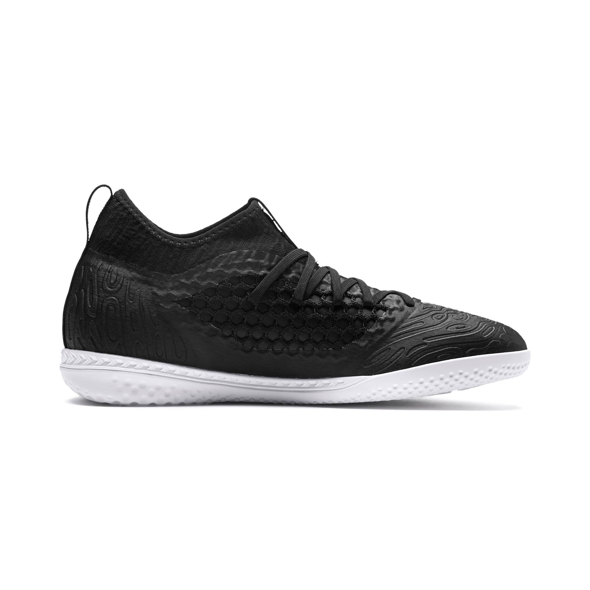 Thumbnail 5 of FUTURE 19.3 NETFIT IT Men's Soccer Shoes, Puma Black-Puma Black-White, medium