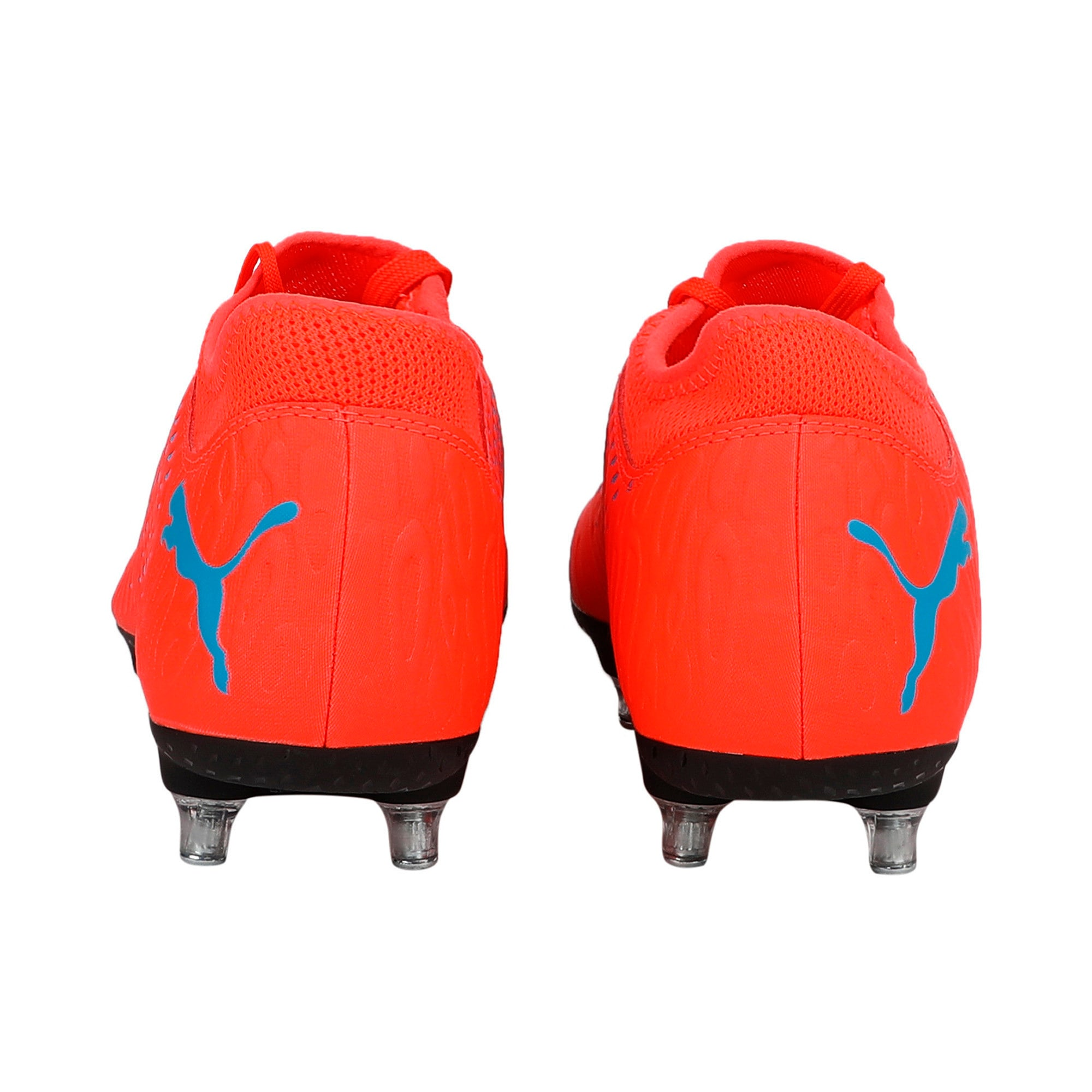 Thumbnail 3 of FUTURE 19.4 SG Men's Football Boots, Red Blast-Bleu Azur, medium-IND