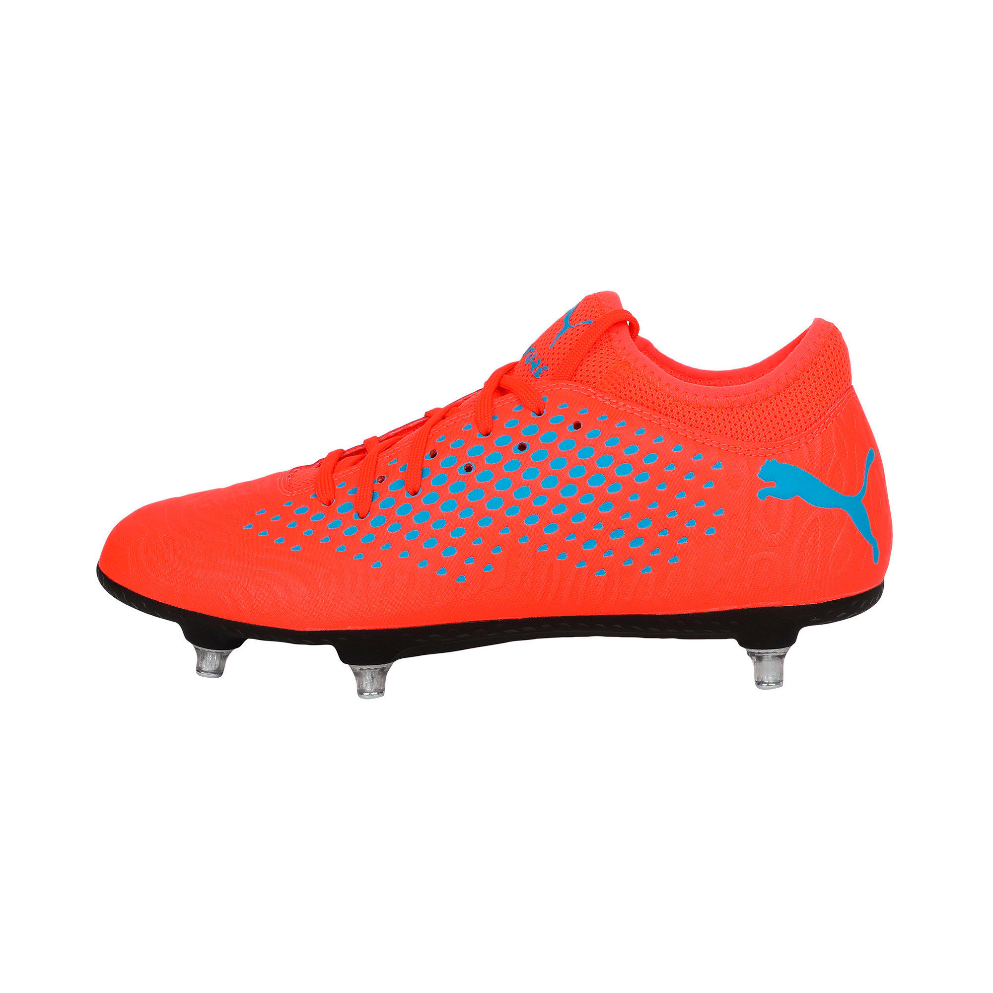 Thumbnail 1 of FUTURE 19.4 SG Men's Football Boots, Red Blast-Bleu Azur, medium-IND