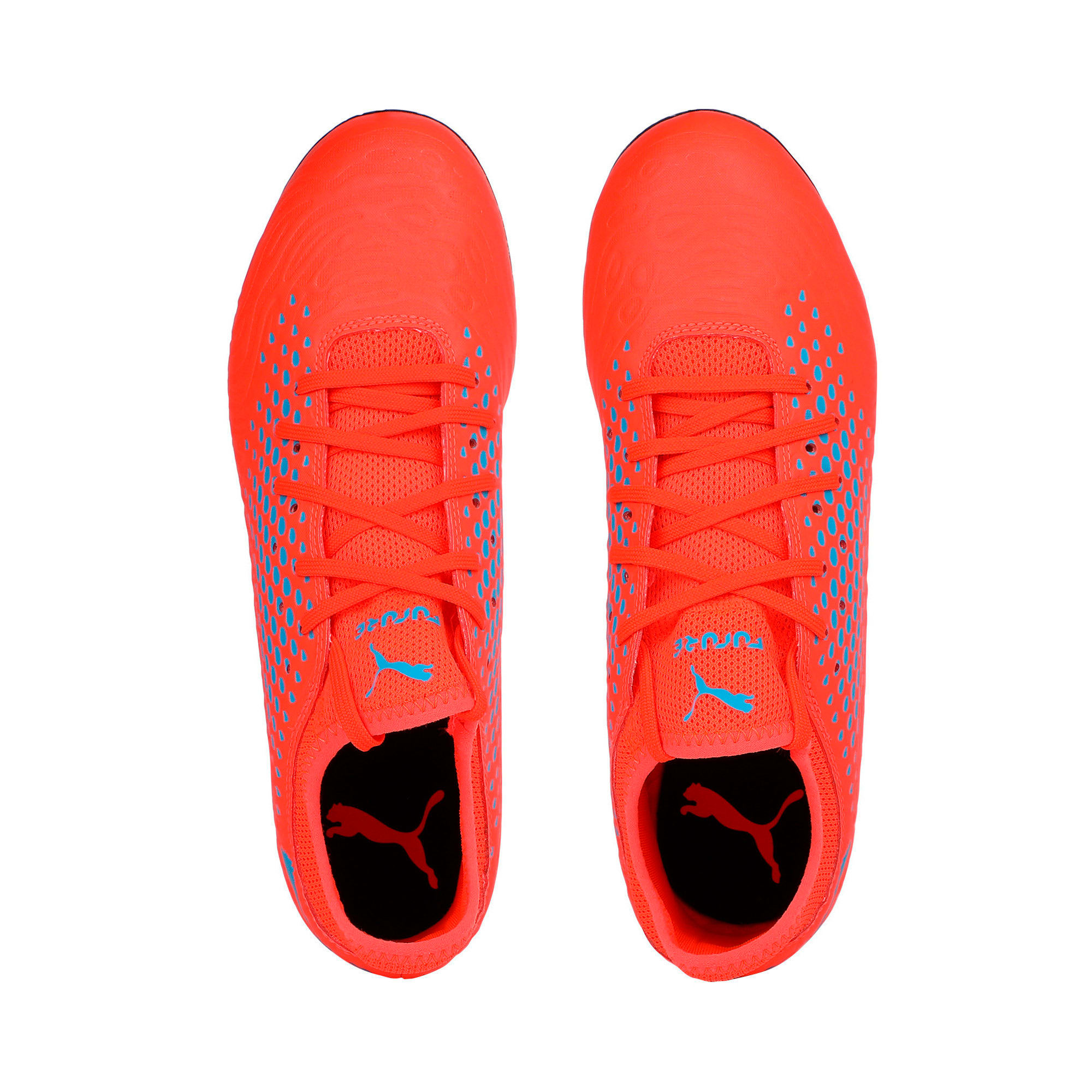Thumbnail 6 of FUTURE 19.4 SG Men's Football Boots, Red Blast-Bleu Azur, medium-IND