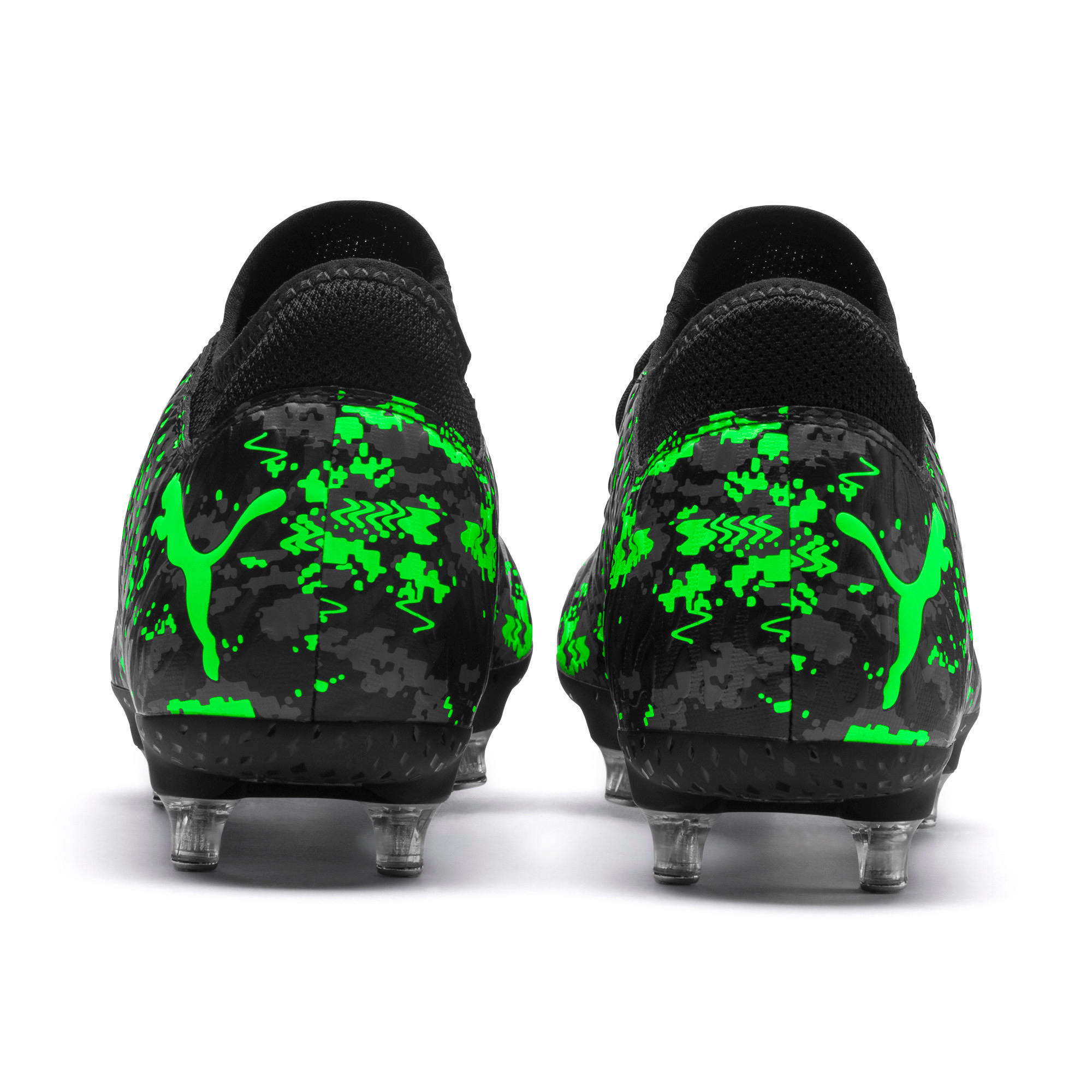 Thumbnail 3 of FUTURE 19.4 SG Men's Football Boots, Black-Gray-Green Gecko, medium