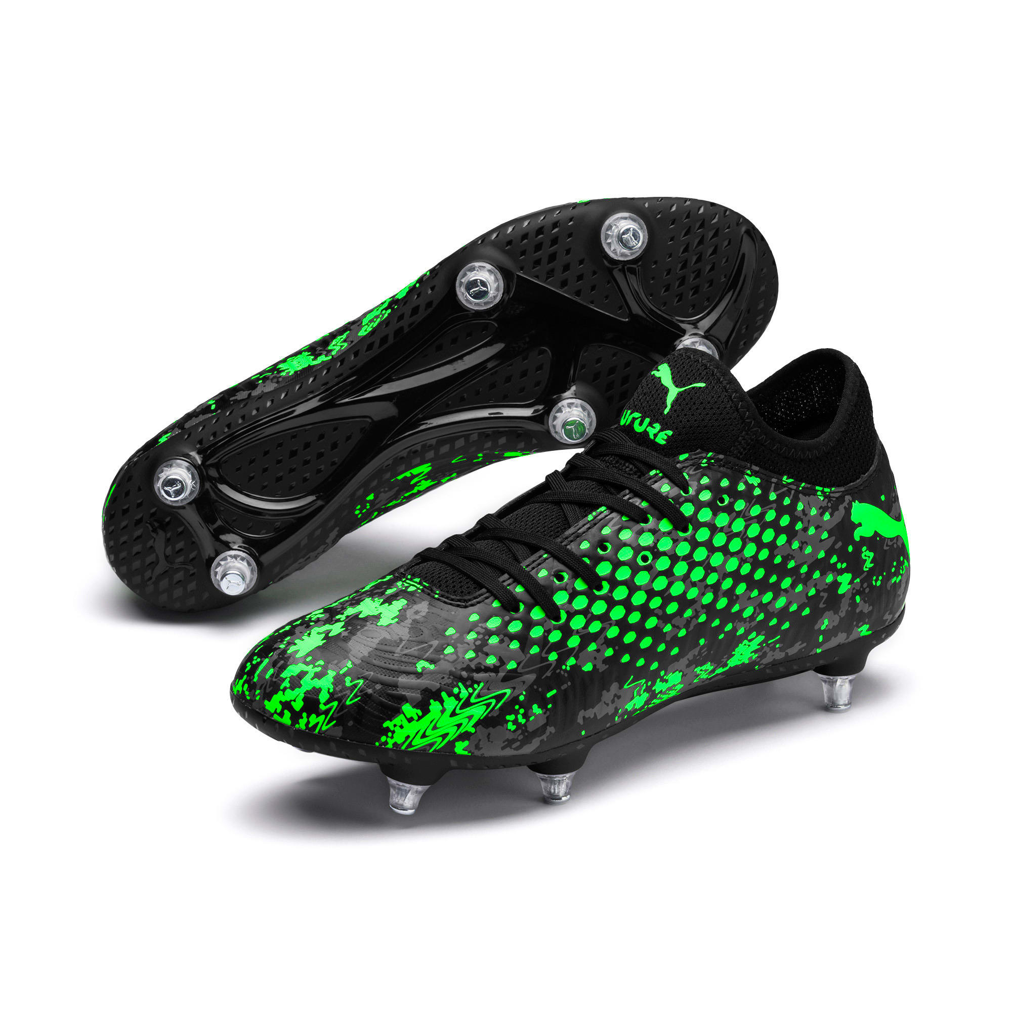 Thumbnail 2 of FUTURE 19.4 SG Men's Football Boots, Black-Gray-Green Gecko, medium