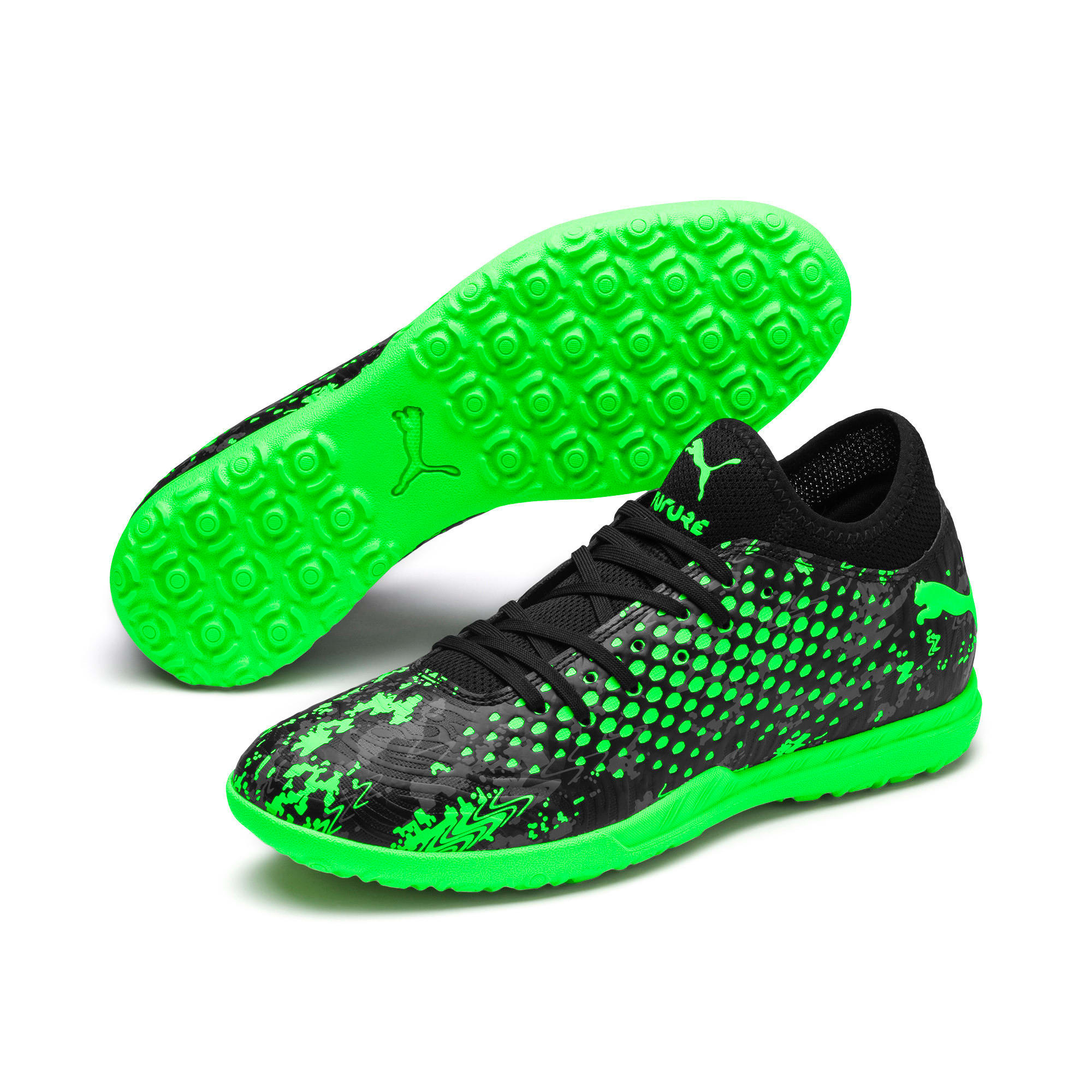 Thumbnail 2 of FUTURE 19.4 TT Men's Football Boots, Black-Gray-Green Gecko, medium