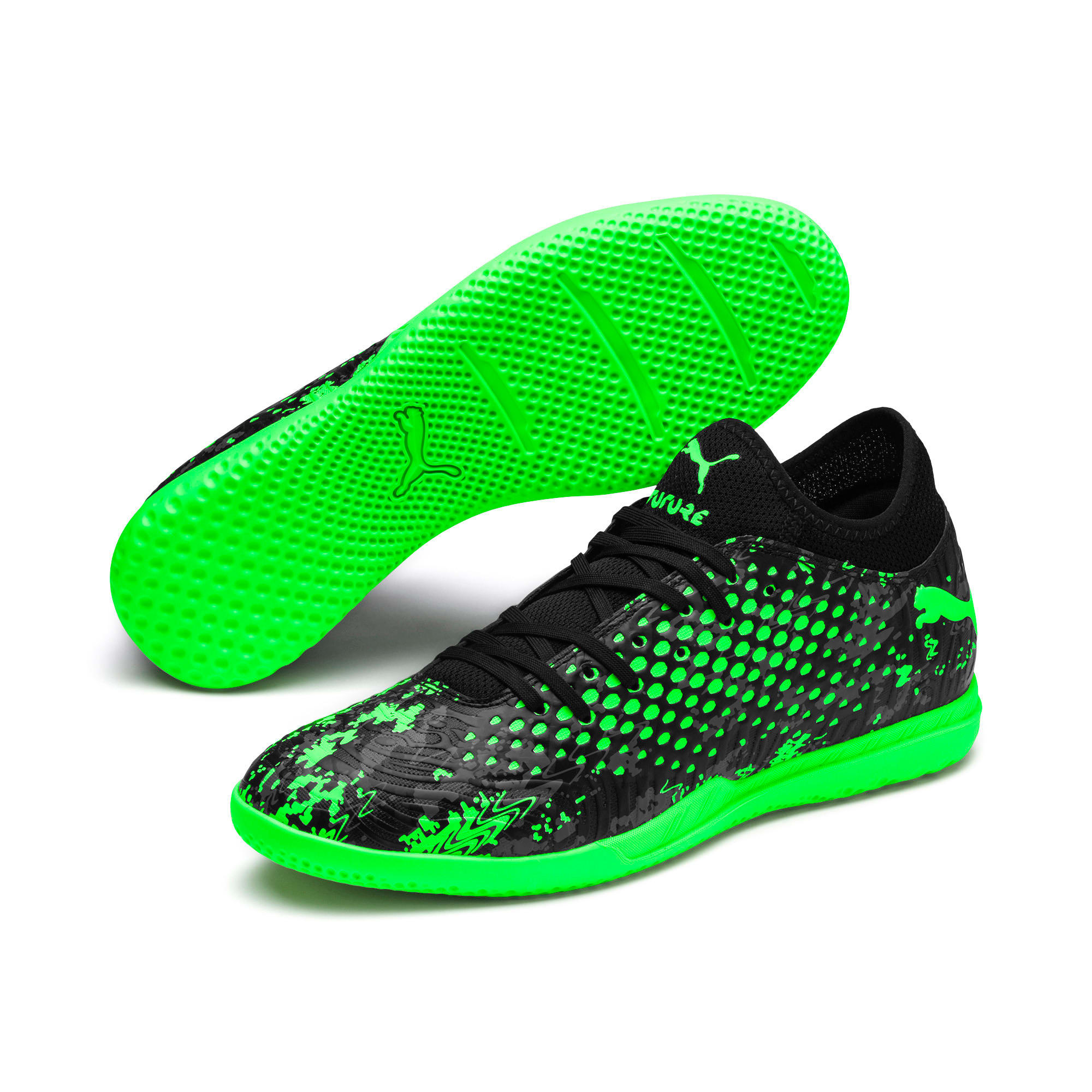 Thumbnail 2 of Chaussure de foot FUTURE 19.4 IT pour homme, Black-Gray-Green Gecko, medium
