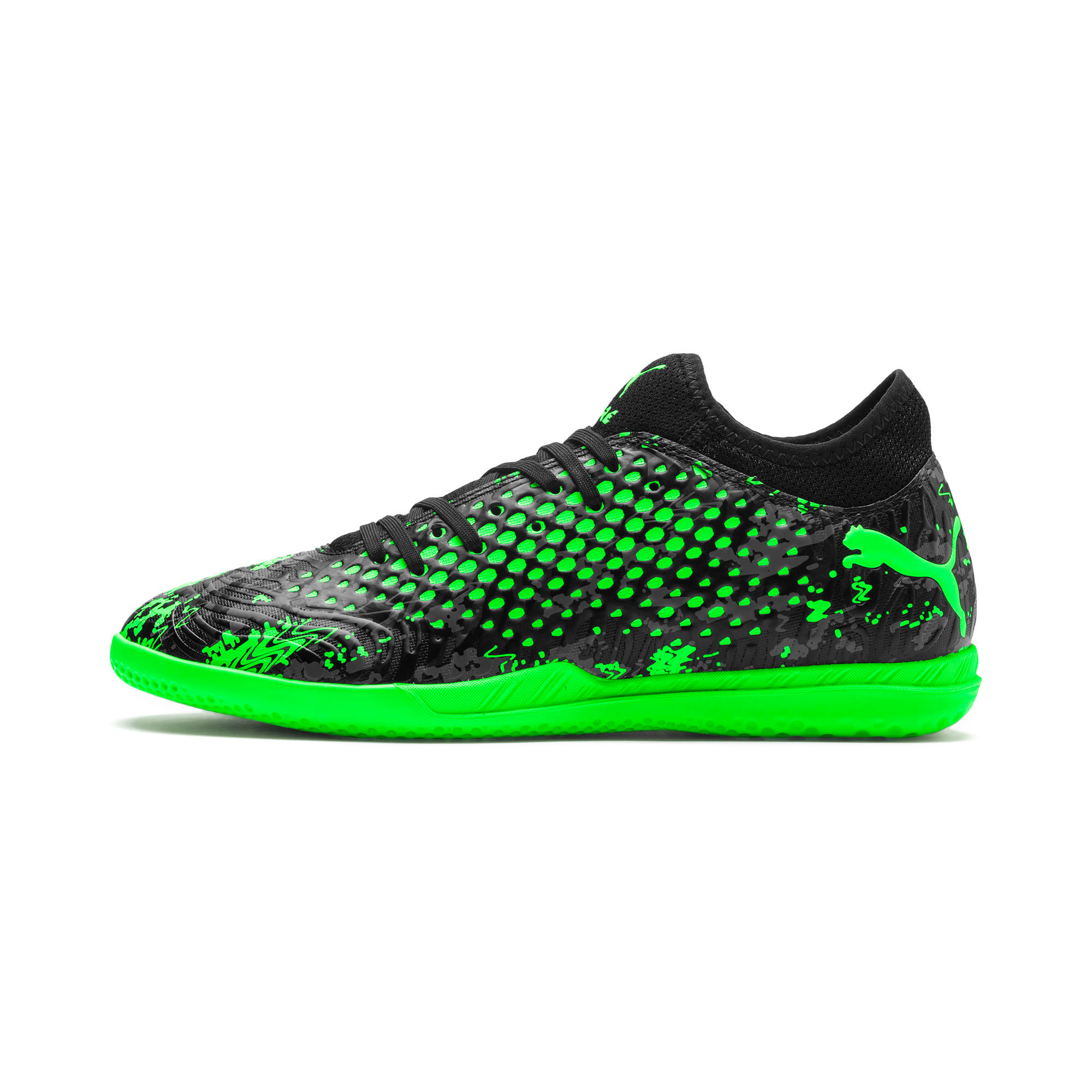Thumbnail 1 of Chaussure de foot FUTURE 19.4 IT pour homme, Black-Gray-Green Gecko, medium