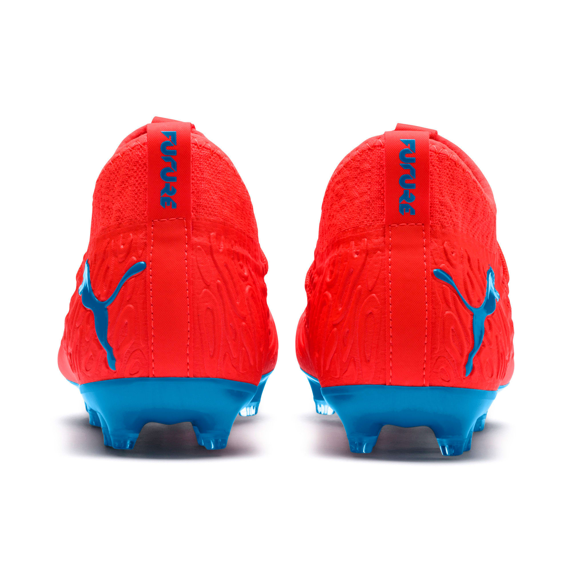 Thumbnail 3 of FUTURE 19.3 NETFIT FG/AG Soccer Cleats JR, Red Blast-Bleu Azur, medium