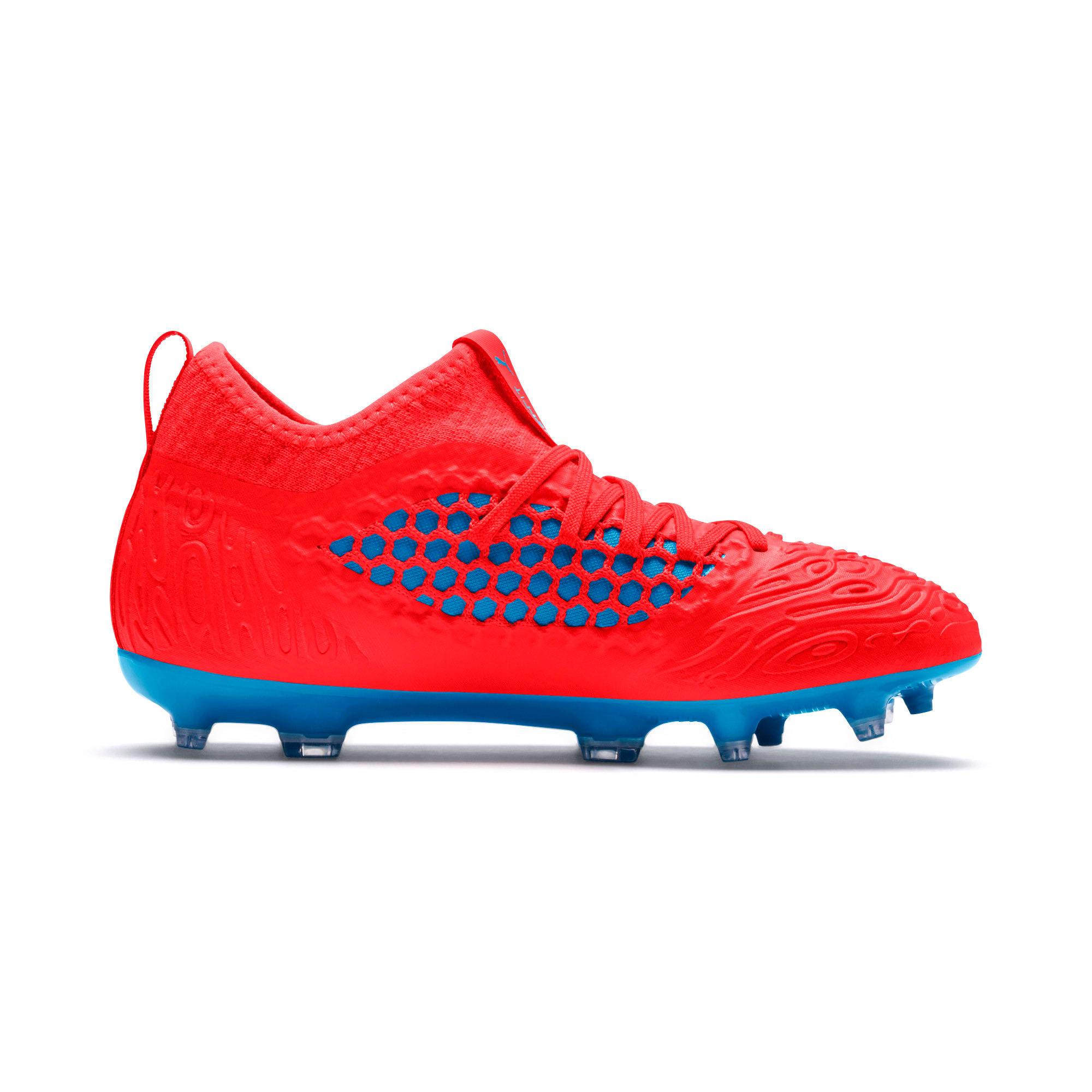 Thumbnail 5 of FUTURE 19.3 NETFIT FG/AG Soccer Cleats JR, Red Blast-Bleu Azur, medium