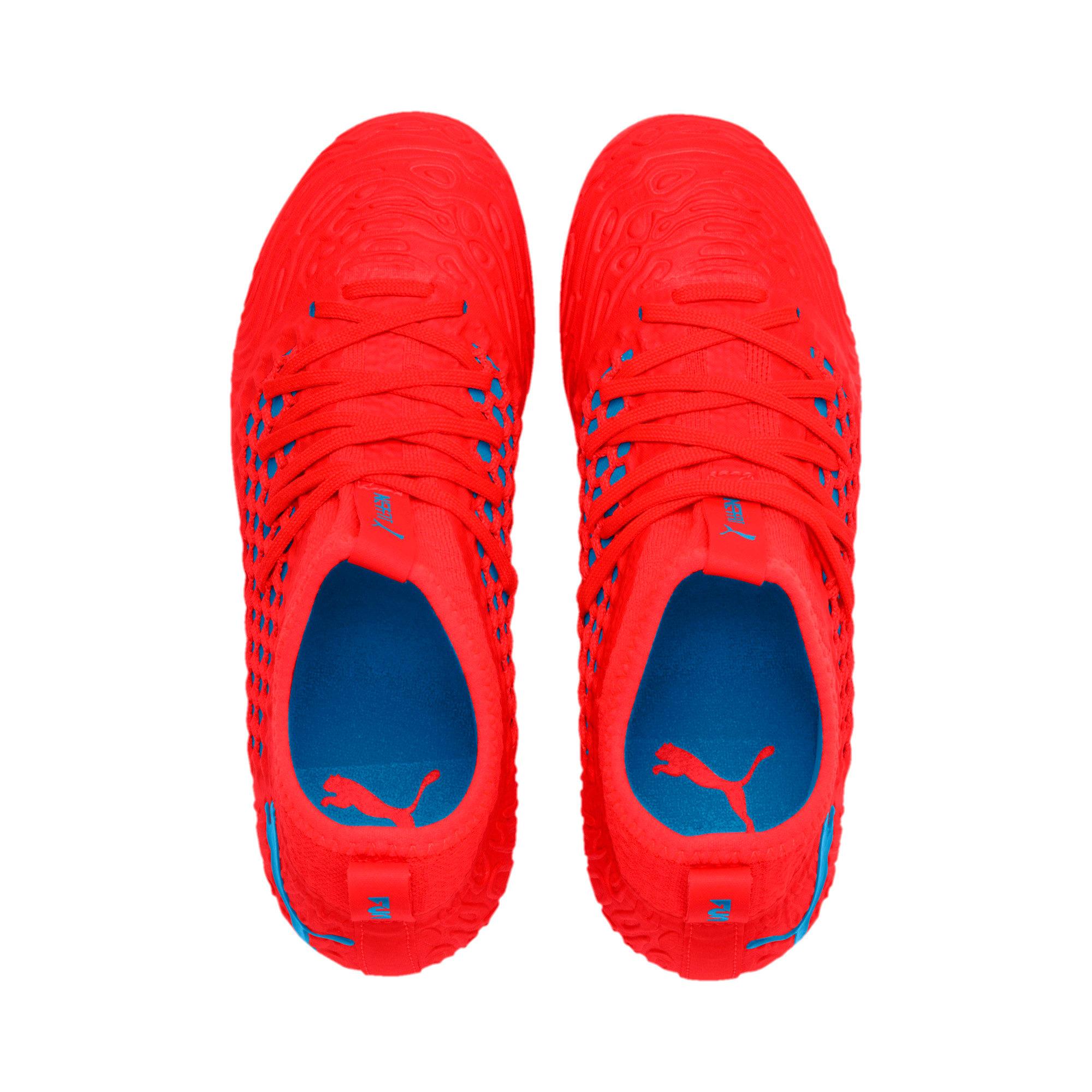 Thumbnail 6 of FUTURE 19.3 NETFIT FG/AG Soccer Cleats JR, Red Blast-Bleu Azur, medium