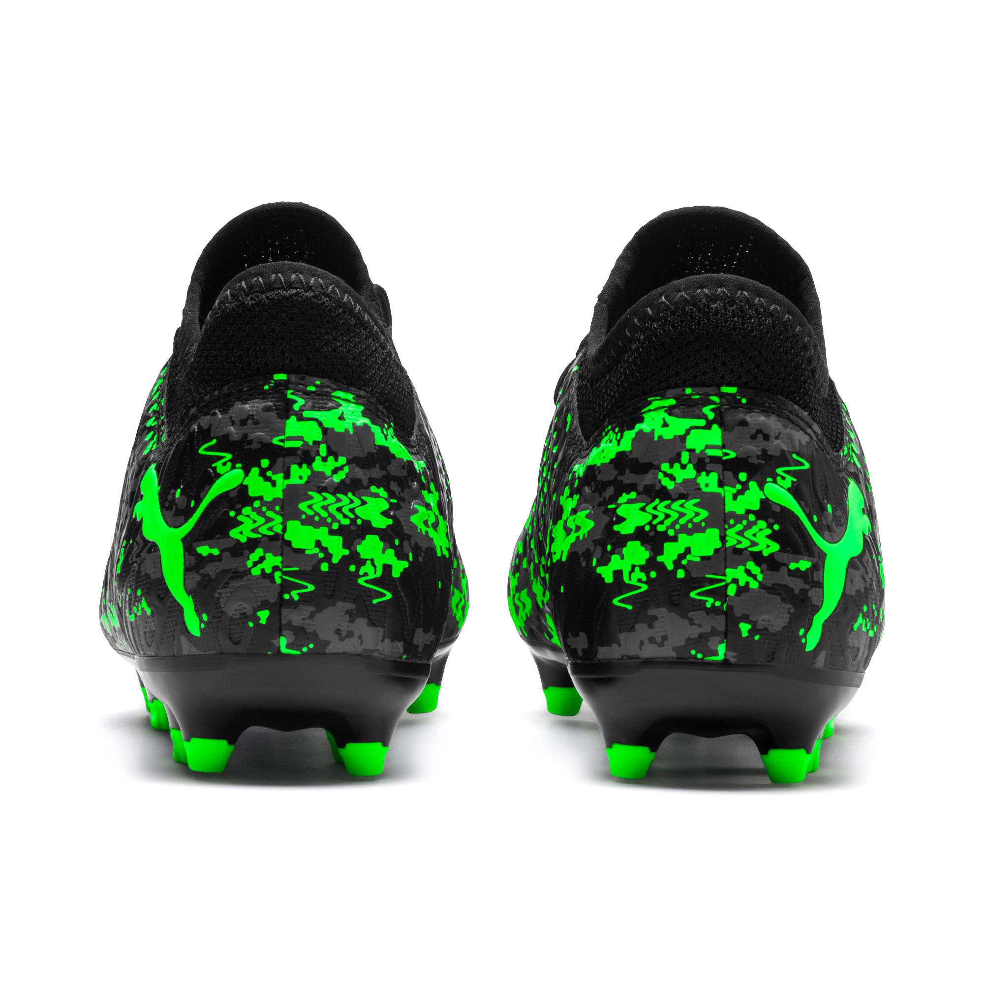 Thumbnail 3 of FUTURE 19.4 FG/AG Youth Football Boots, Black-Gray-Green Gecko, medium