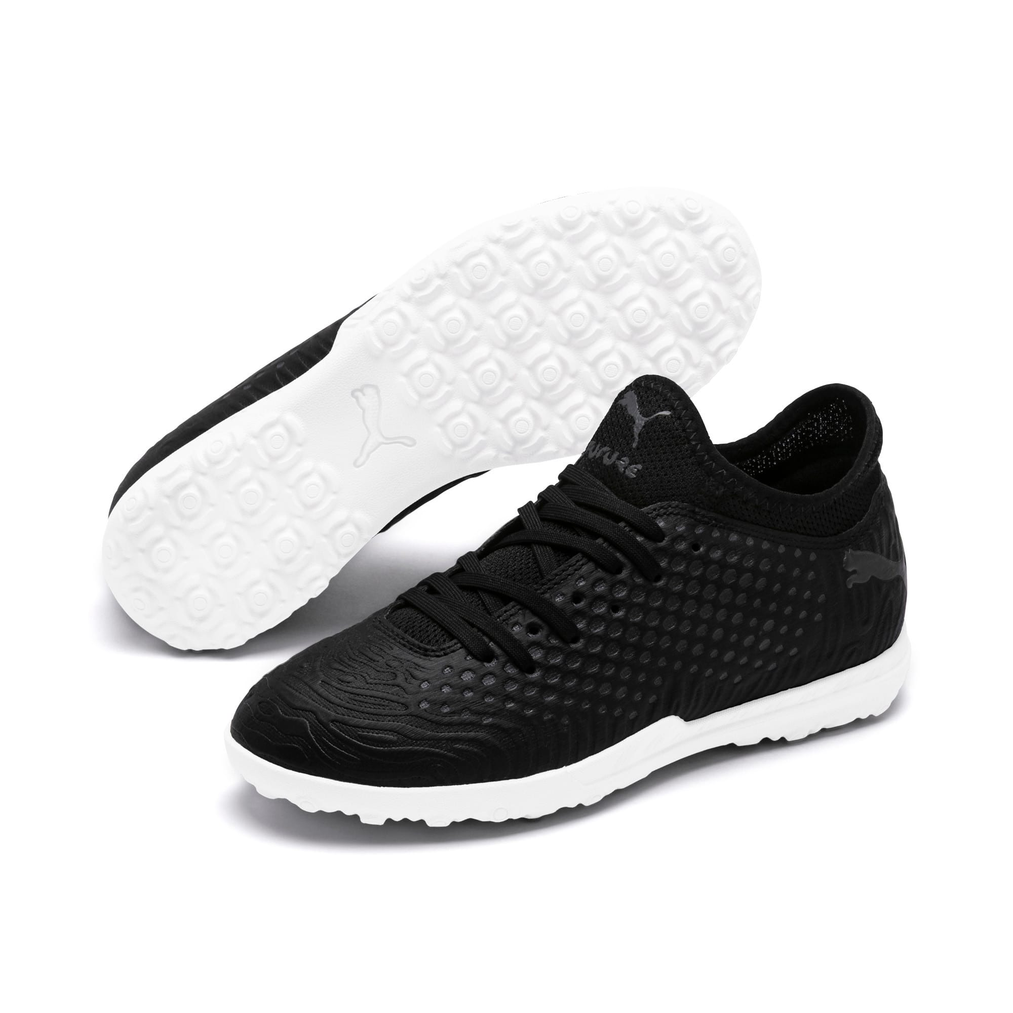 Thumbnail 2 of FUTURE 19.4 TT Soccer Shoes JR, Puma Black-Puma Black-White, medium