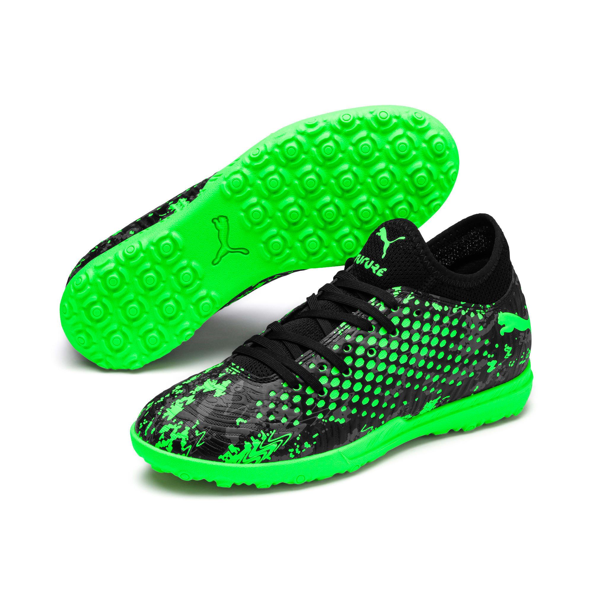 Thumbnail 2 of FUTURE 19.4 TT Youth Football Boots, Black-Gray-Green Gecko, medium