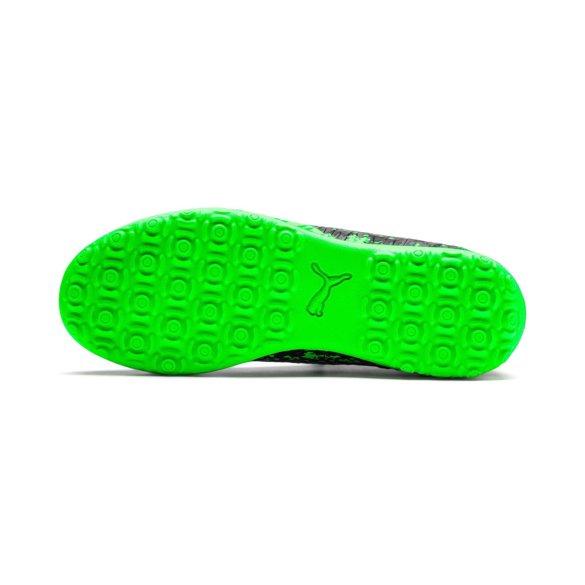 Thumbnail 4 of FUTURE 19.4 TT Youth Football Boots, Black-Gray-Green Gecko, medium