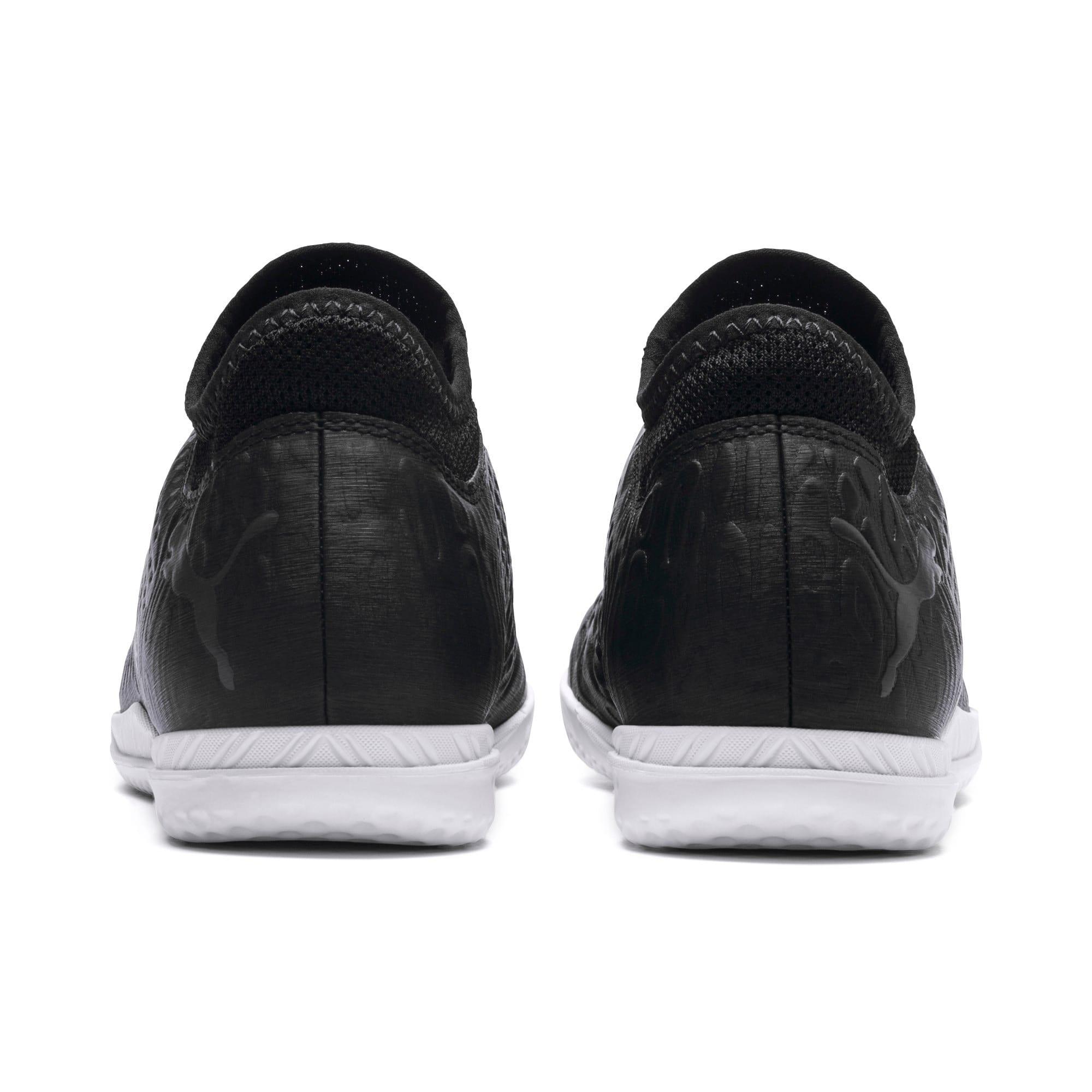 Thumbnail 4 of FUTURE 19.4 IT Soccer Shoes JR, Puma Black-Puma Black-White, medium
