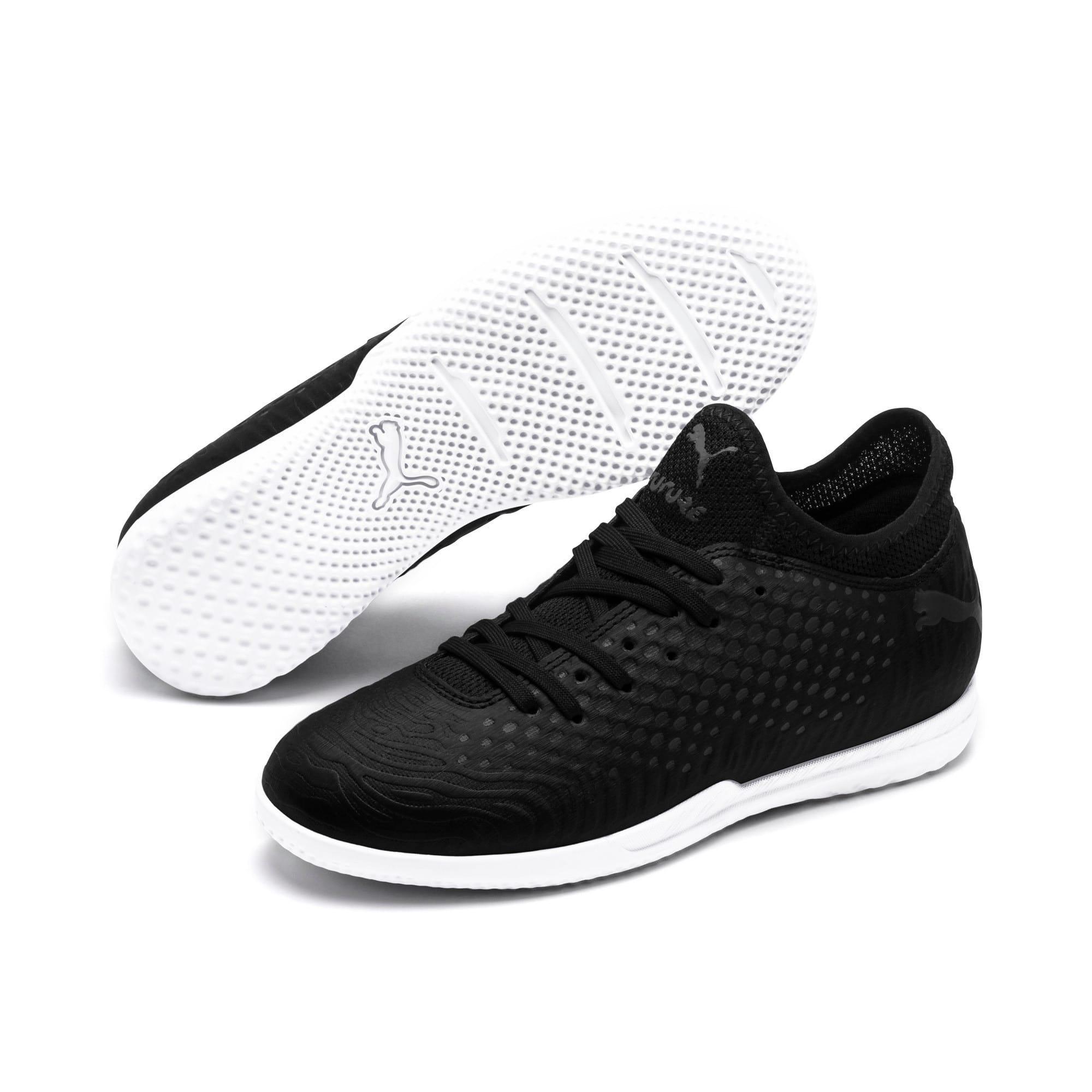 Thumbnail 2 of FUTURE 19.4 IT Soccer Shoes JR, Puma Black-Puma Black-White, medium