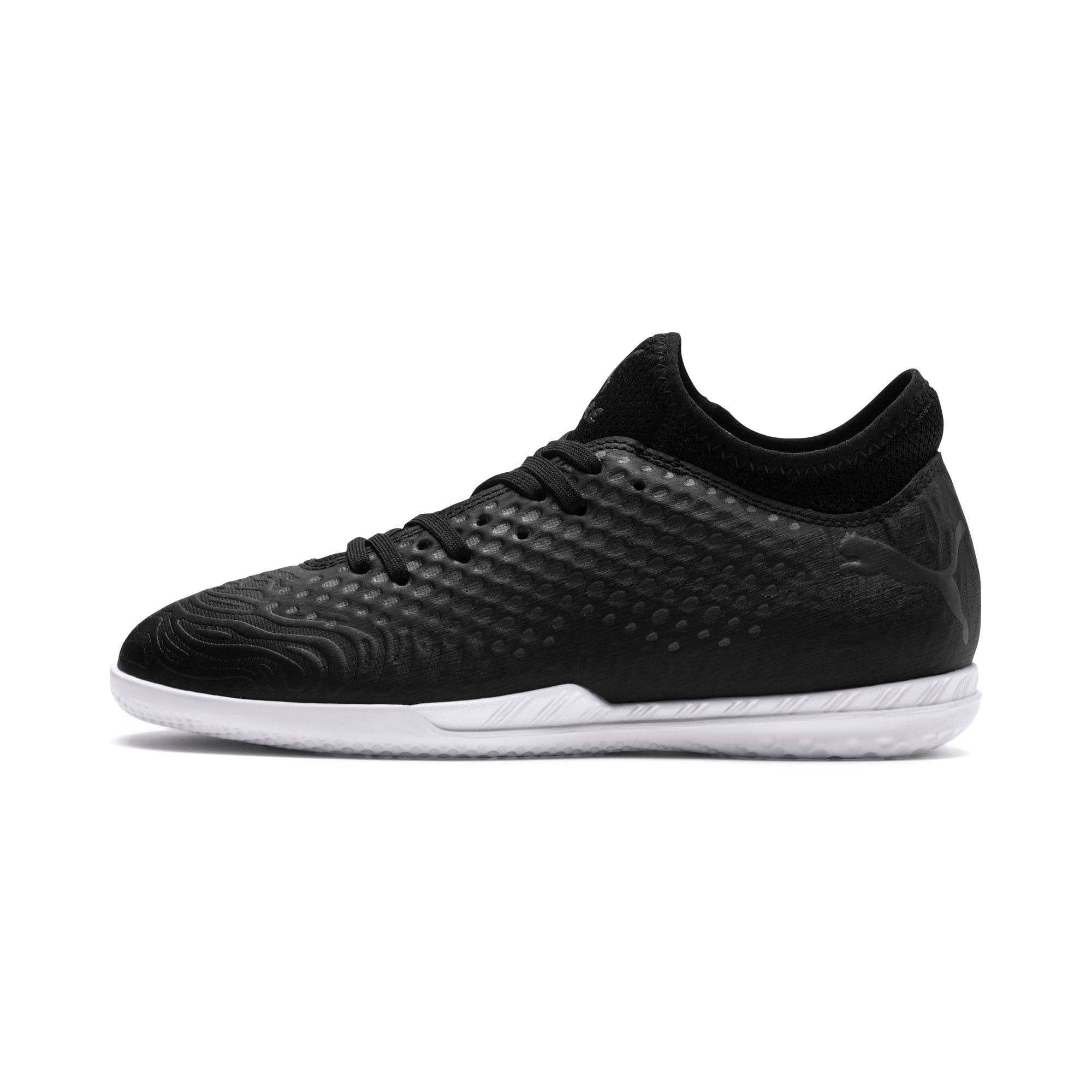 Thumbnail 1 of FUTURE 19.4 IT Soccer Shoes JR, Puma Black-Puma Black-White, medium