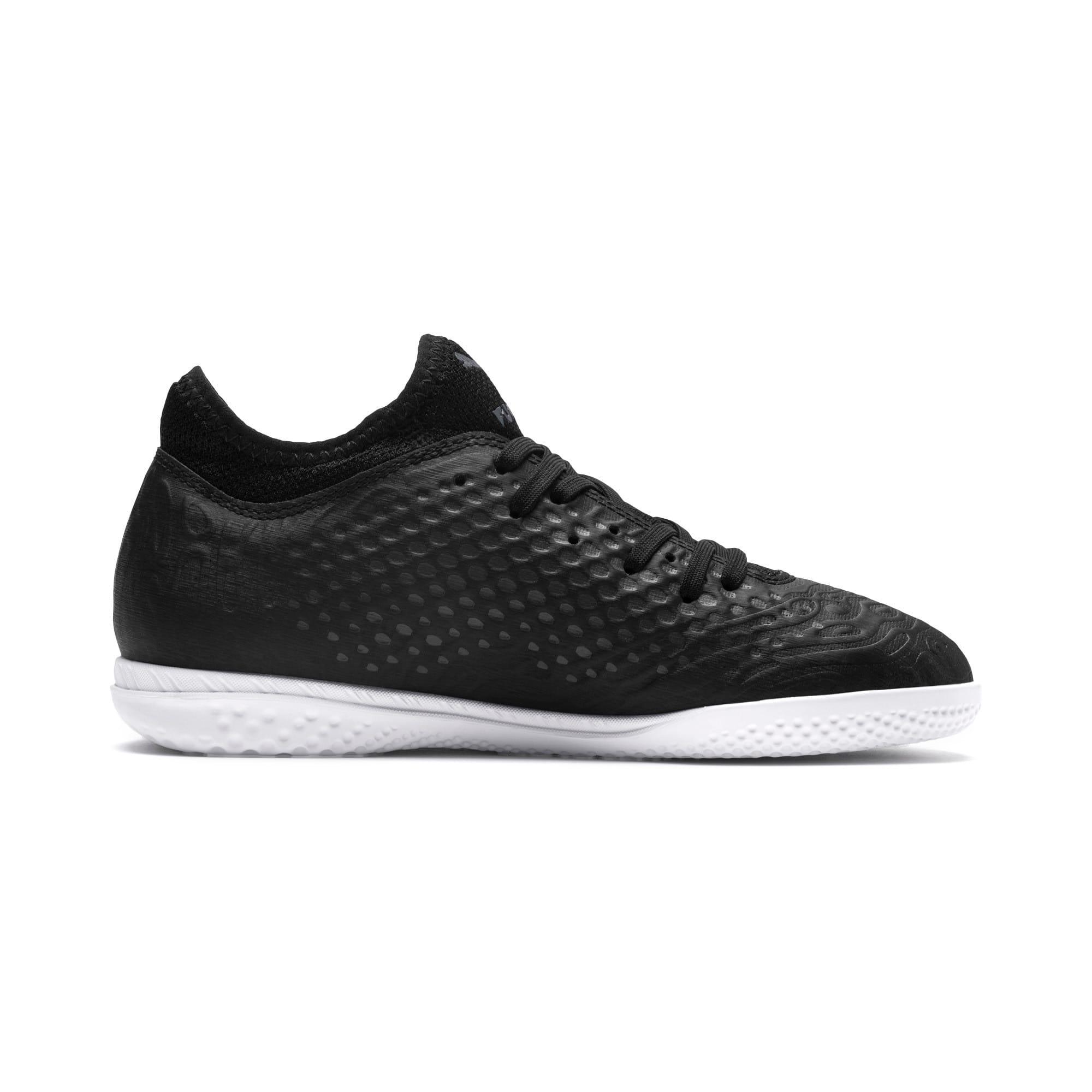 Thumbnail 5 of FUTURE 19.4 IT Soccer Shoes JR, Puma Black-Puma Black-White, medium