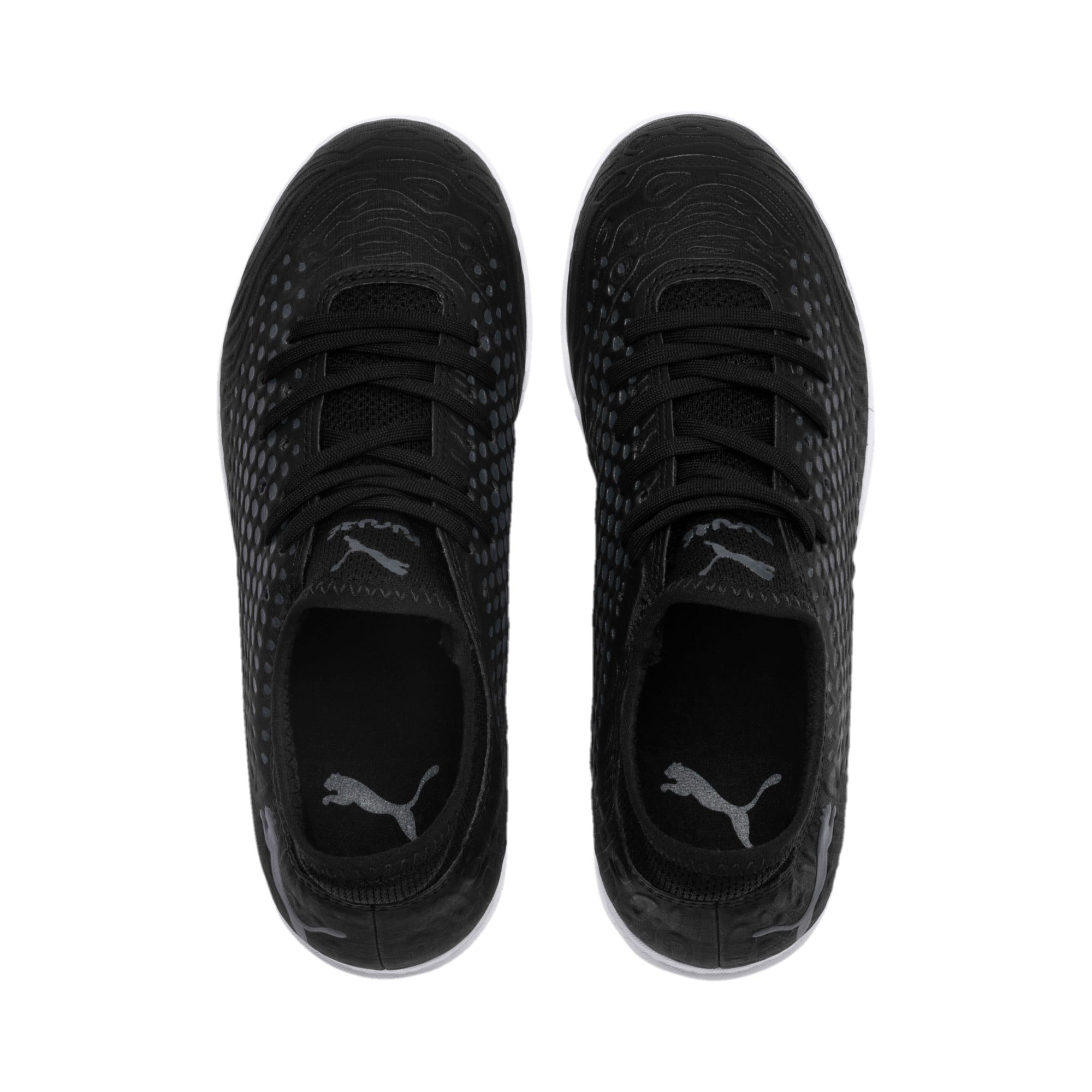 Thumbnail 6 of FUTURE 19.4 IT Soccer Shoes JR, Puma Black-Puma Black-White, medium