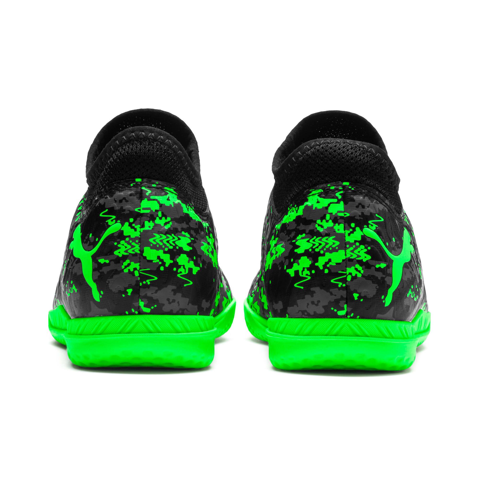 Miniatura 3 de Zapatos de fútbol FUTURE 19.4 IT para JR, Black-Gray-Green Gecko, mediano
