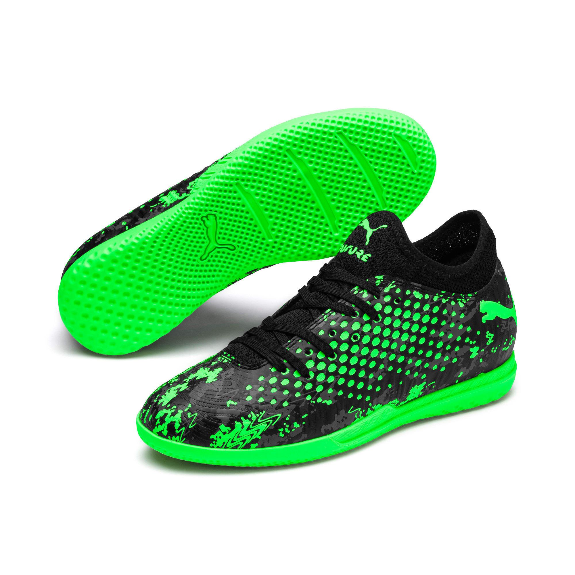 Miniatura 2 de Zapatos de fútbol FUTURE 19.4 IT para JR, Black-Gray-Green Gecko, mediano