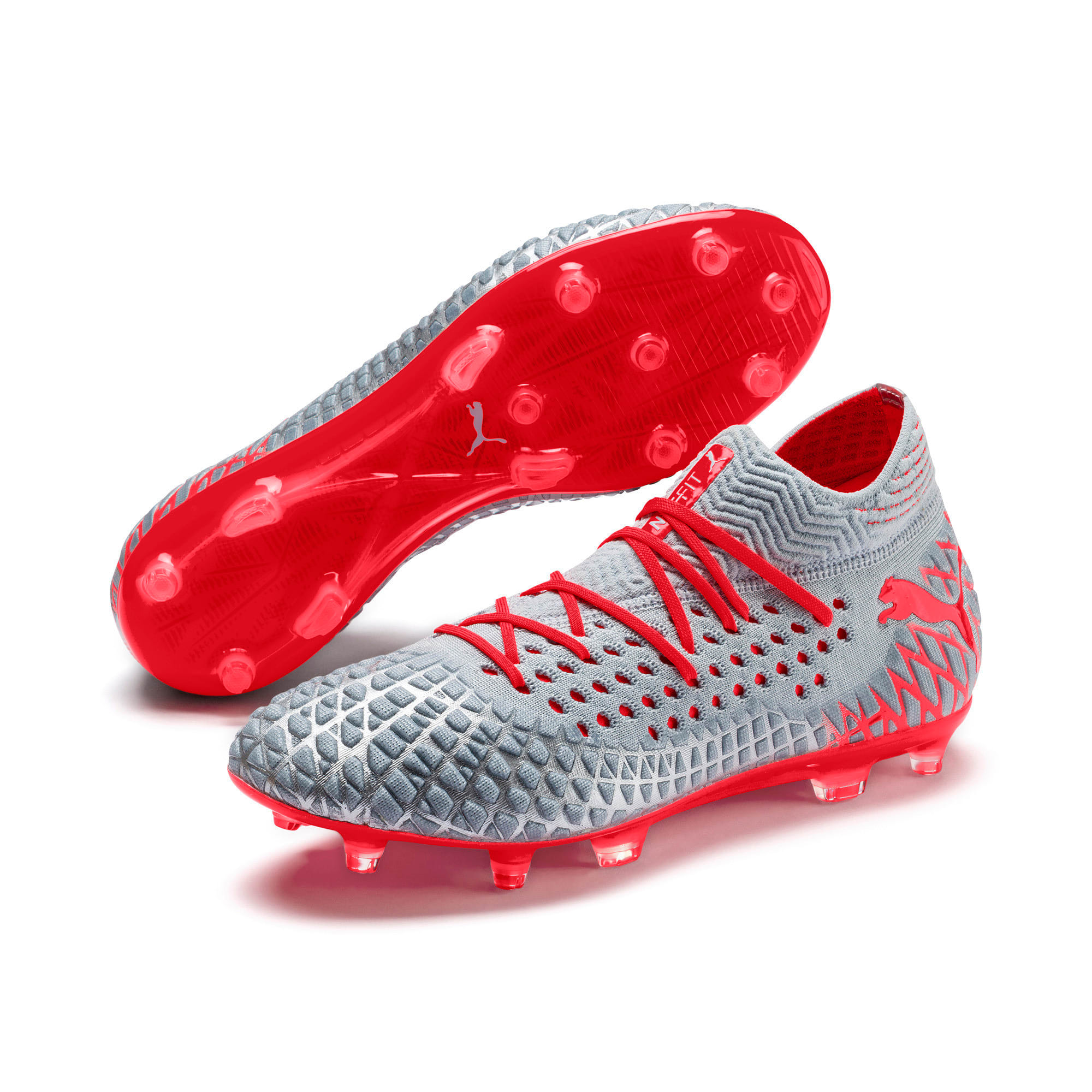 Thumbnail 3 of FUTURE 4.1 NETFIT FG/AG Men's Football Boots, Blue-Nrgy Red-High Risk Red, medium