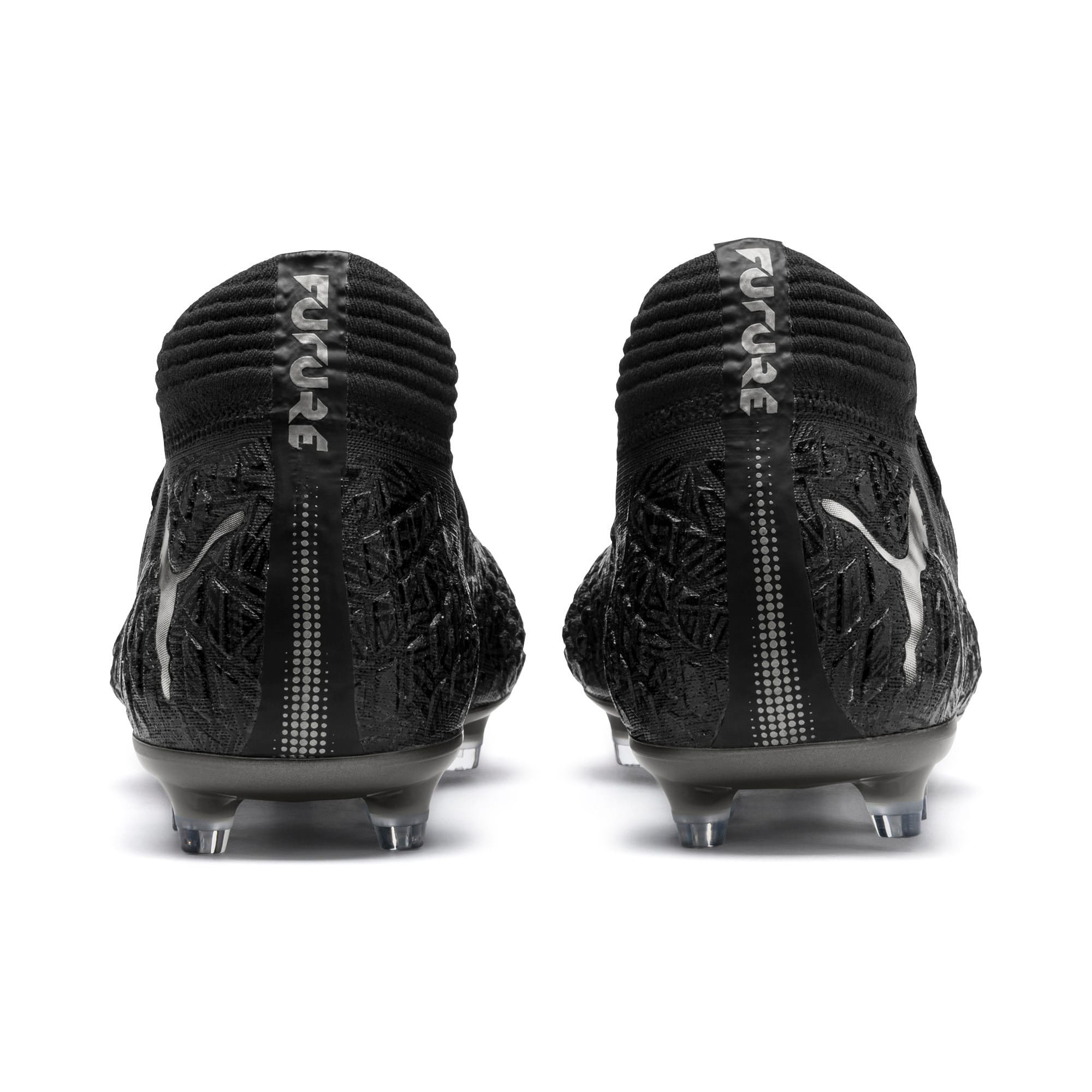 Thumbnail 4 of FUTURE 4.1 NETFIT FG/AG Men's Football Boots, Black-Black-Puma Aged Silver, medium