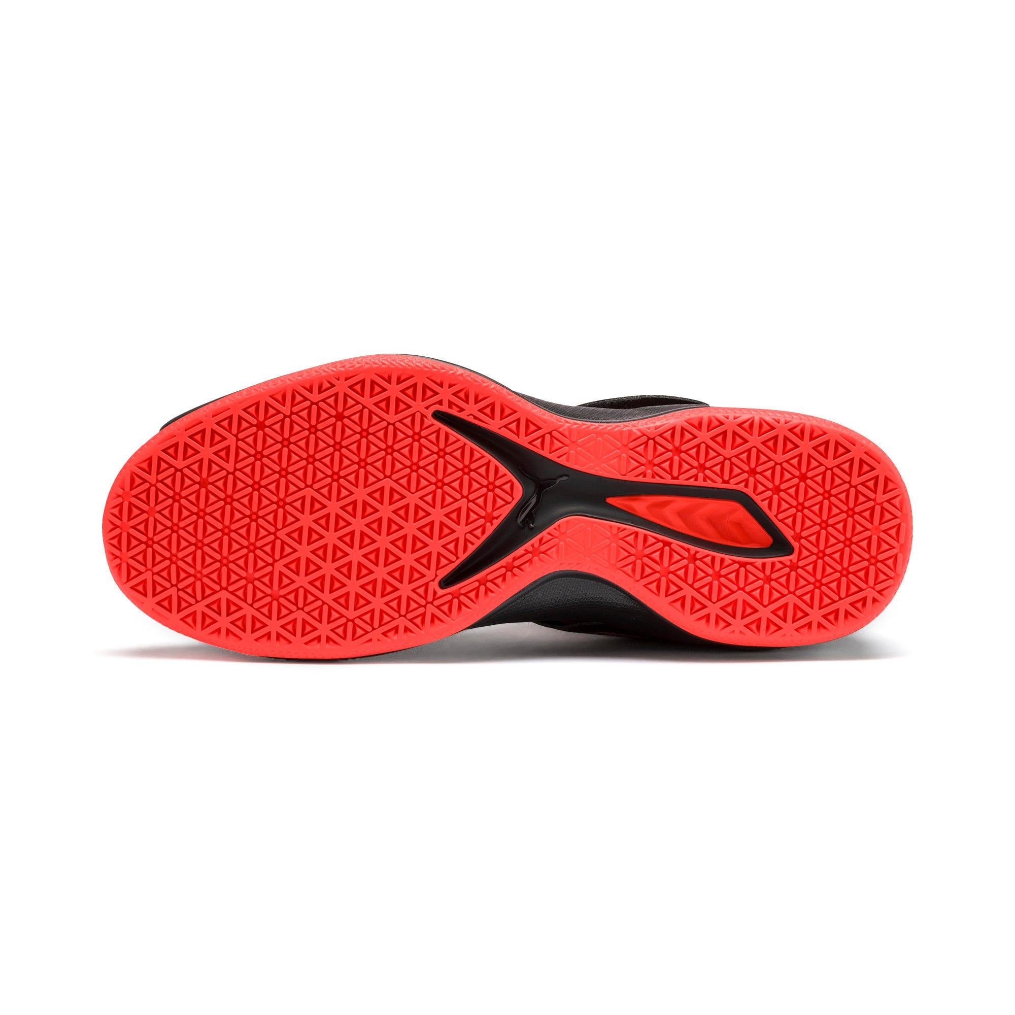 Thumbnail 5 of Rise XT3 NETFIT Handball Shoes, Puma Black-Silver-Nrgy Red, medium