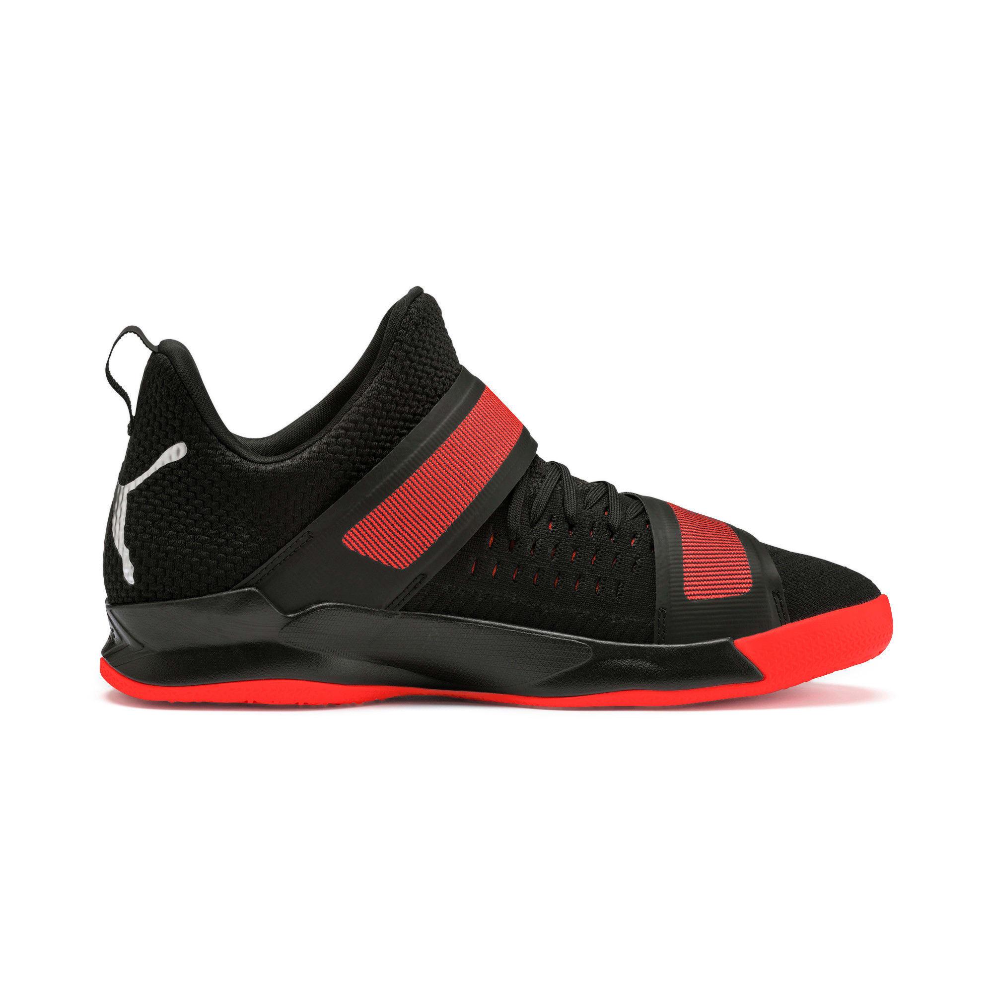 Thumbnail 6 of Rise XT3 NETFIT Handball Shoes, Puma Black-Silver-Nrgy Red, medium