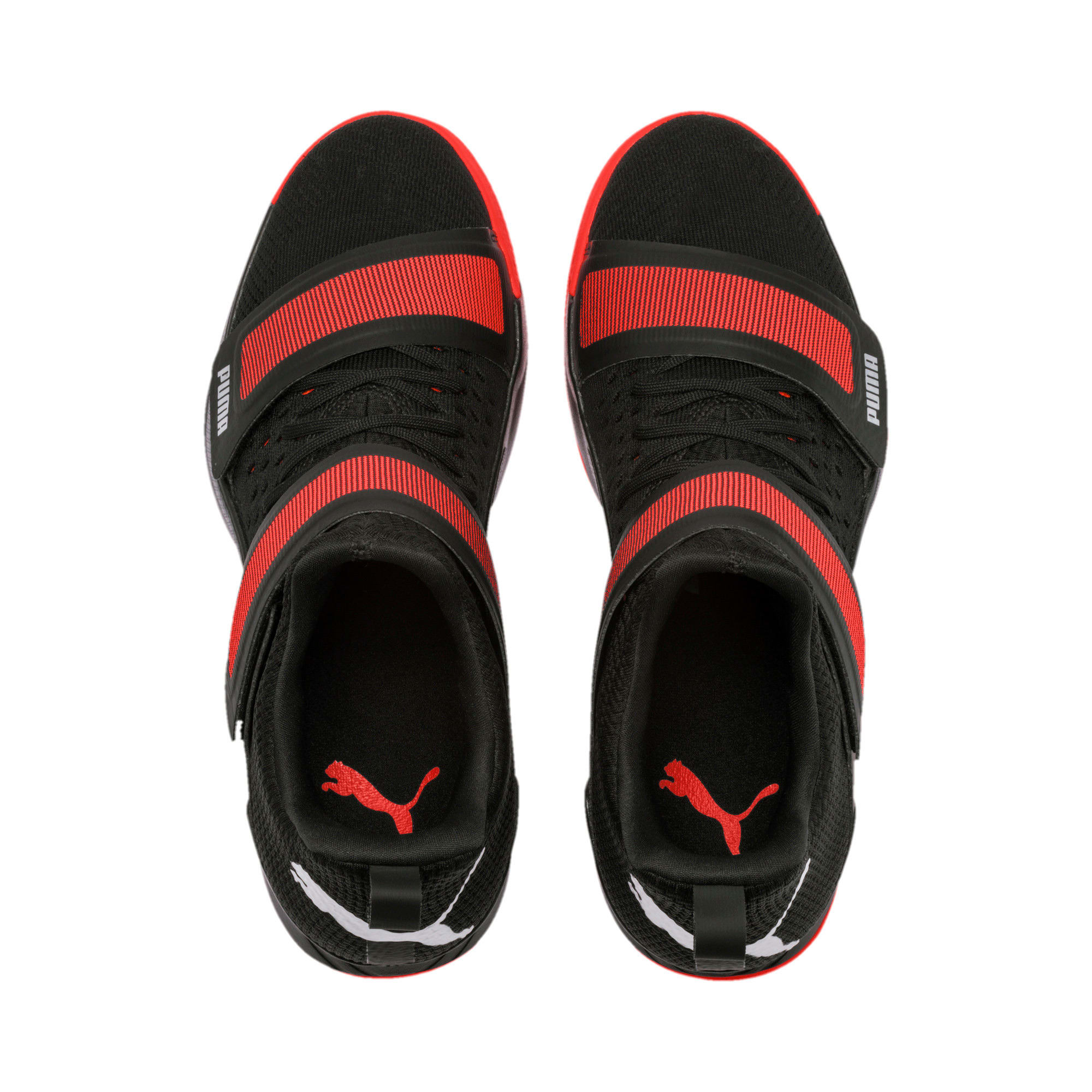 Thumbnail 7 of Rise XT3 NETFIT Handball Shoes, Puma Black-Silver-Nrgy Red, medium