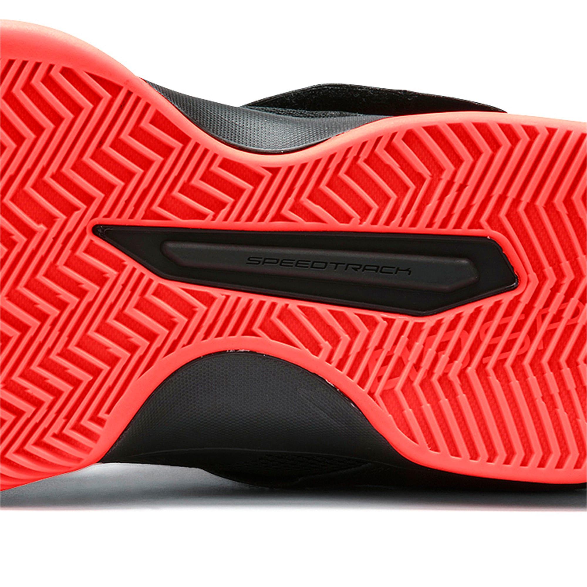 Thumbnail 8 of Rise XT3 Handball Shoes, Puma Black-Silver-Nrgy Red, medium