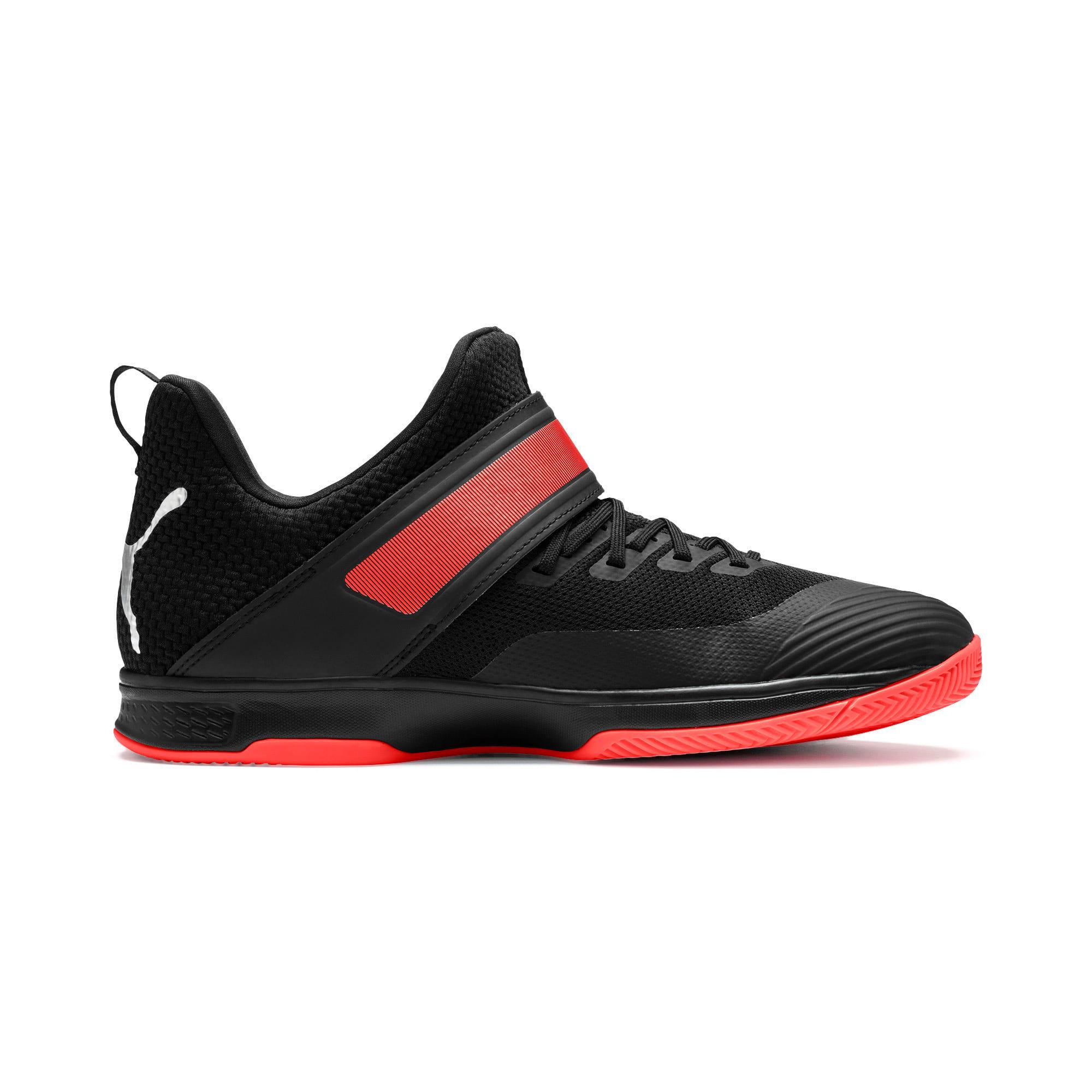 Thumbnail 6 of Rise XT3 Handball Shoes, Puma Black-Silver-Nrgy Red, medium