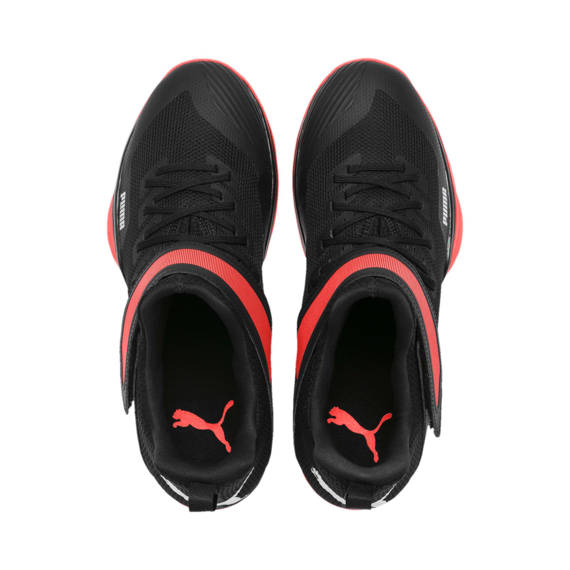 Thumbnail 7 of Rise XT3 Handball Shoes, Puma Black-Silver-Nrgy Red, medium