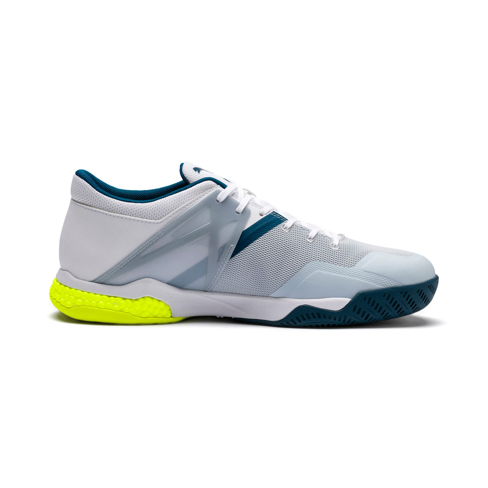 Explode XT Hybrid 2 Handball Shoes, White-Grey-Yellow-Gibraltar, large-IND
