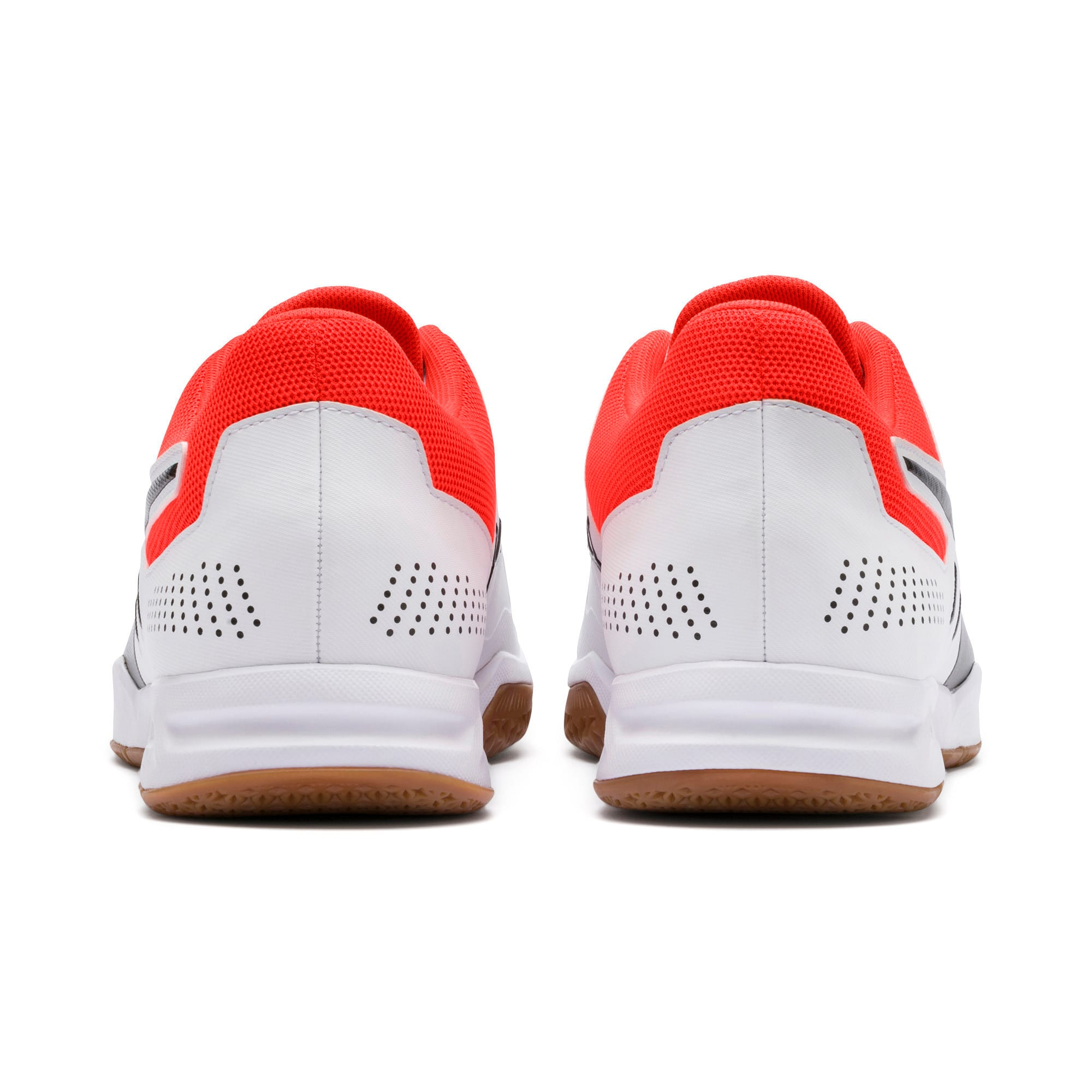 Thumbnail 4 of Auriz Indoor Sport Men's Trainers, White-Black-Nrgy Red-Gum, medium